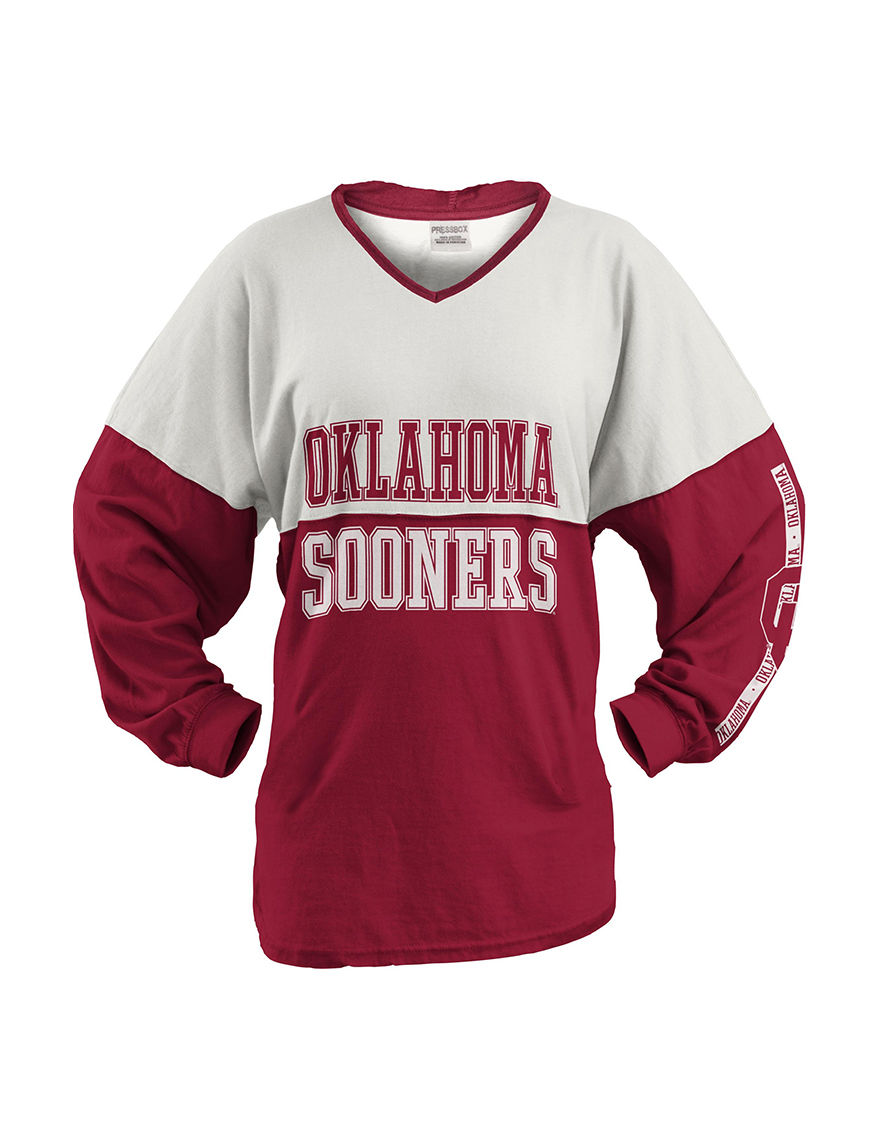 NCAA White / Red Pull-overs Shirts & Blouses Tees & Tanks