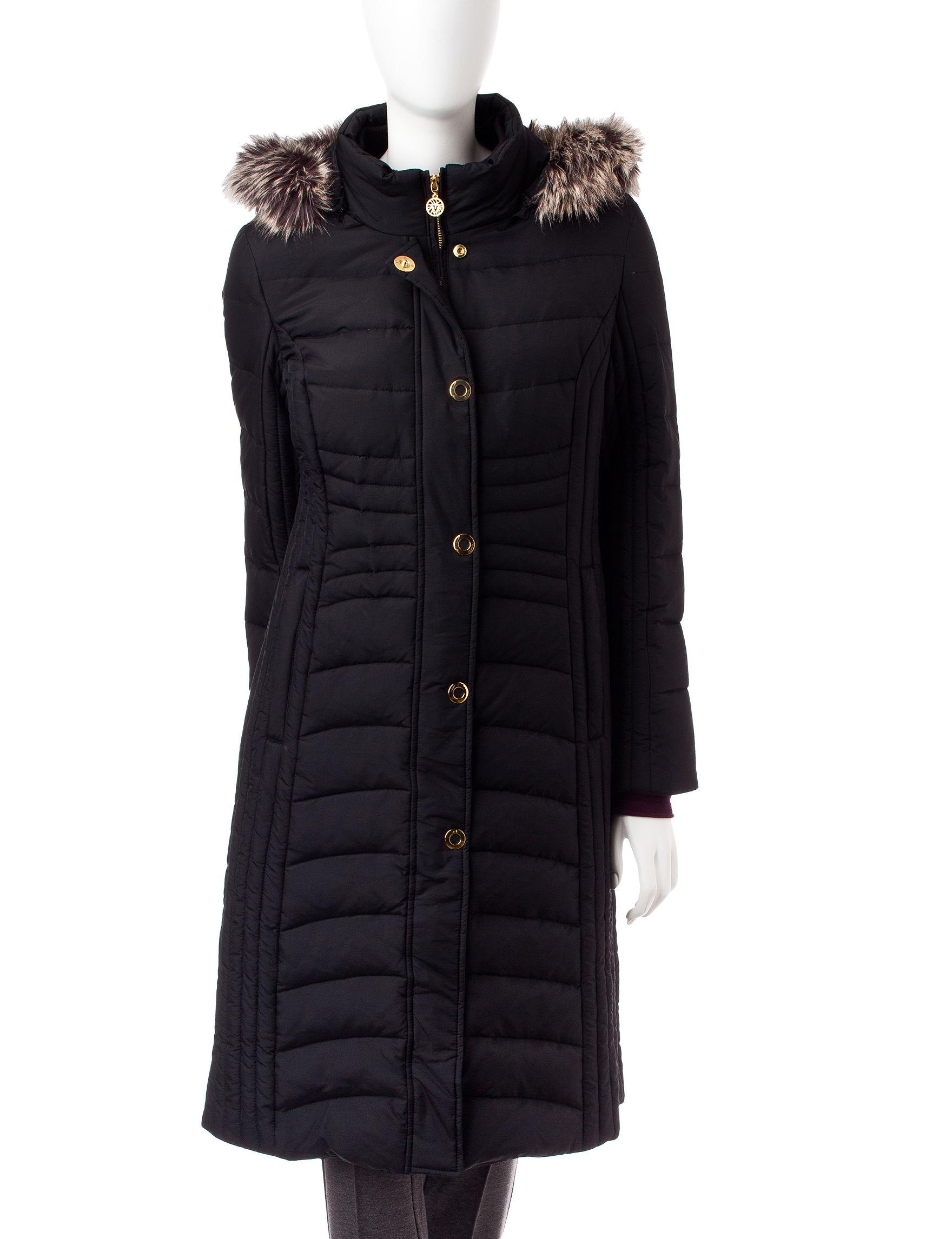 Anne Klein Black Rain & Snow Jackets