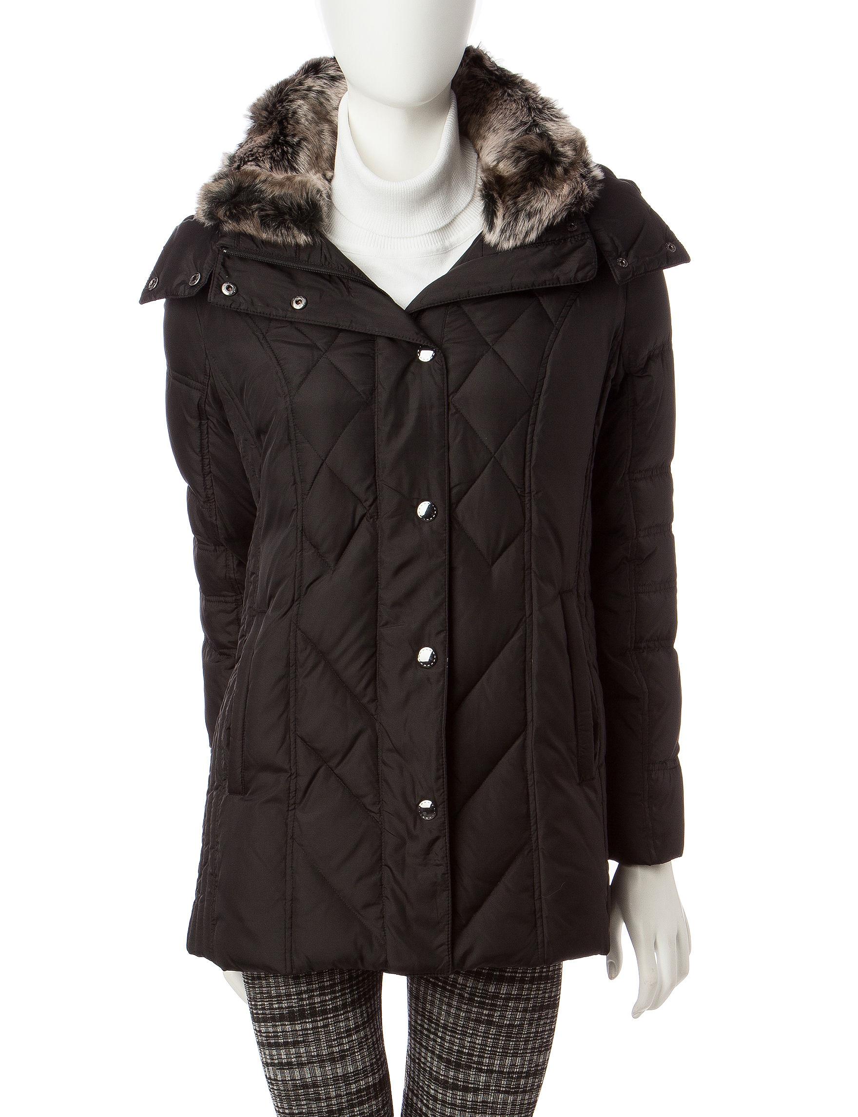 London Fog Black Rain & Snow Jackets