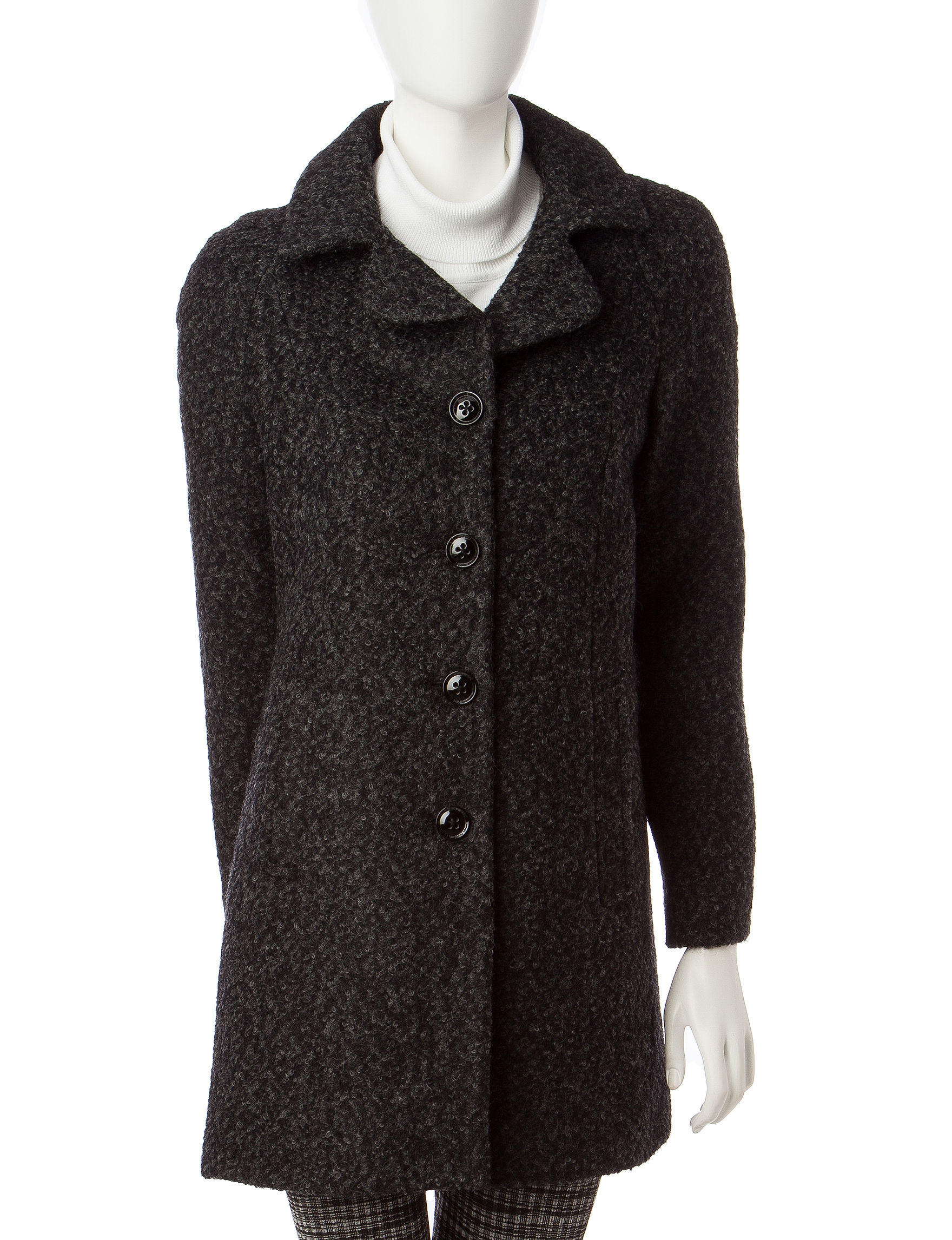 Anne Klein Dark Grey Peacoats & Overcoats
