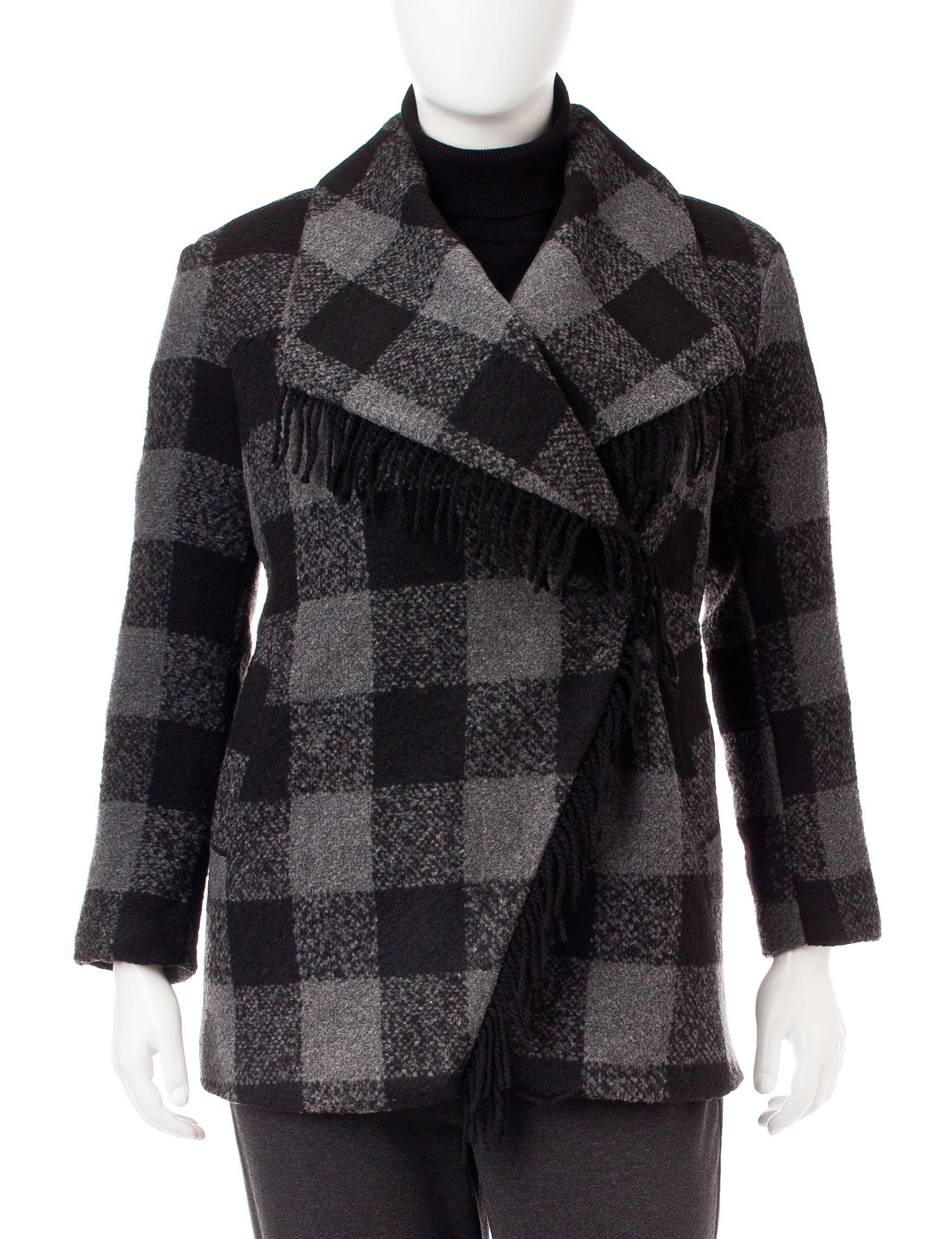 Valerie Stevens Black Peacoats & Overcoats
