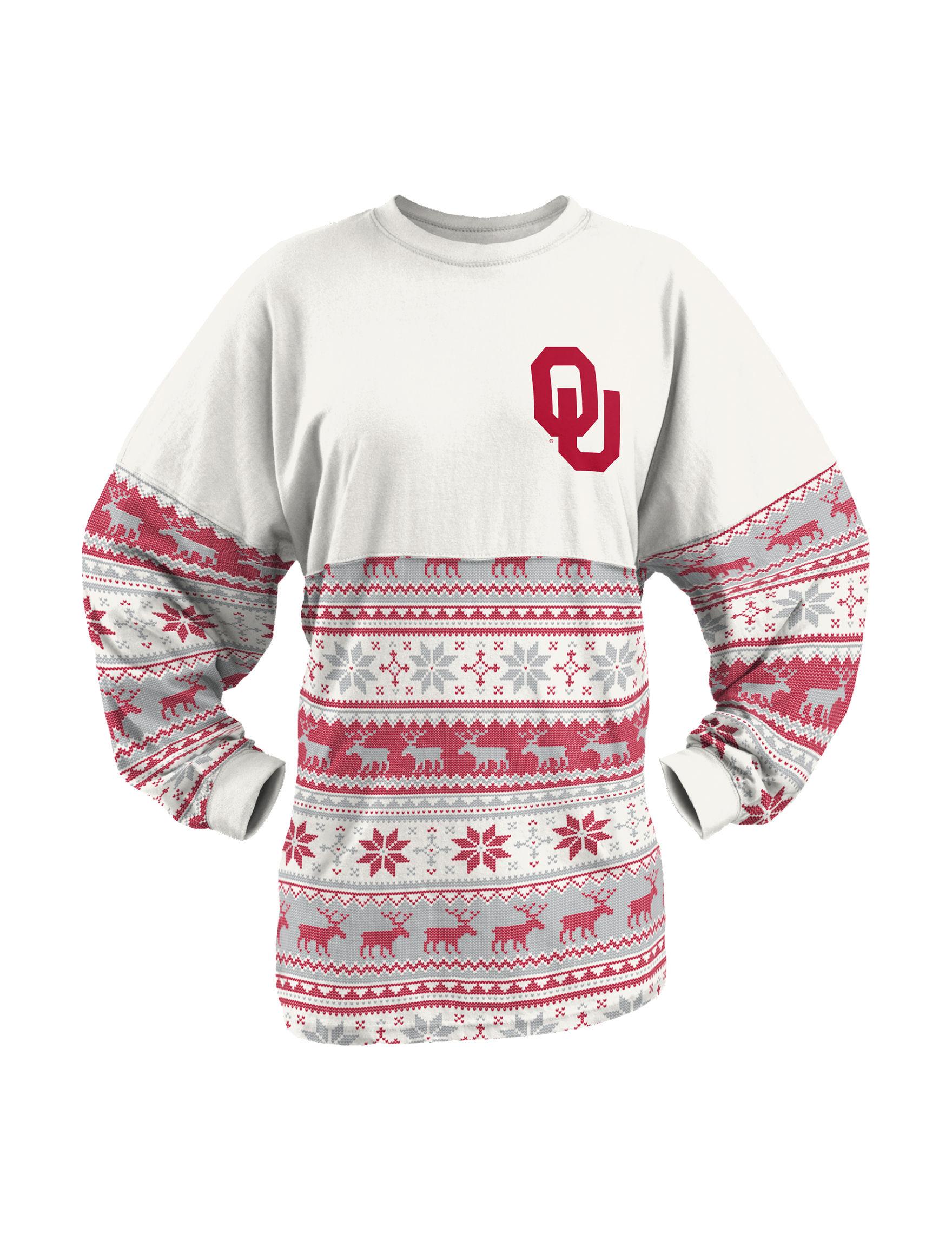 NCAA White Pull-overs Shirts & Blouses Tees & Tanks
