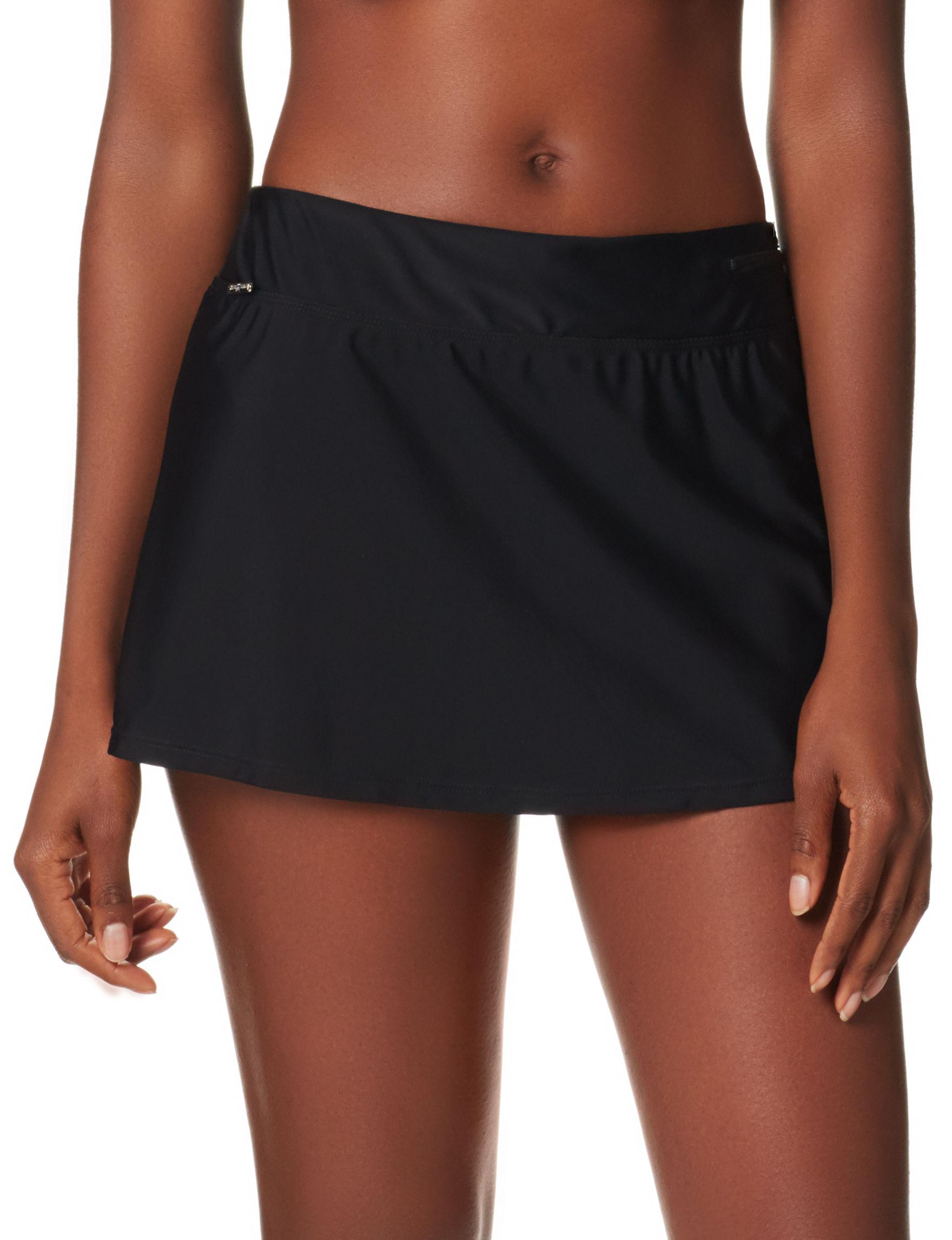 Zero Xposur Black Swimsuit Bottoms Skirtini