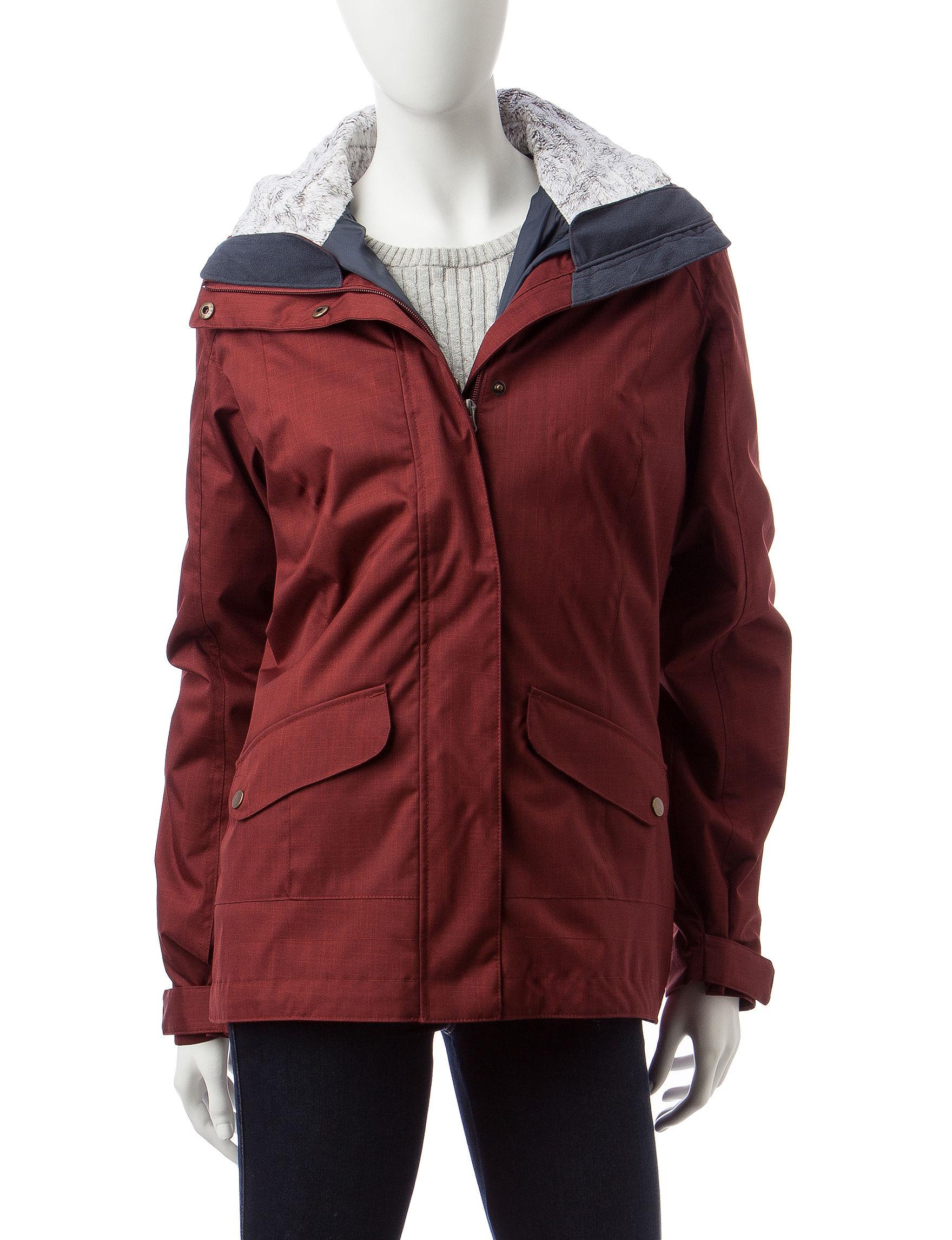 Columbia Rust Rain & Snow Jackets