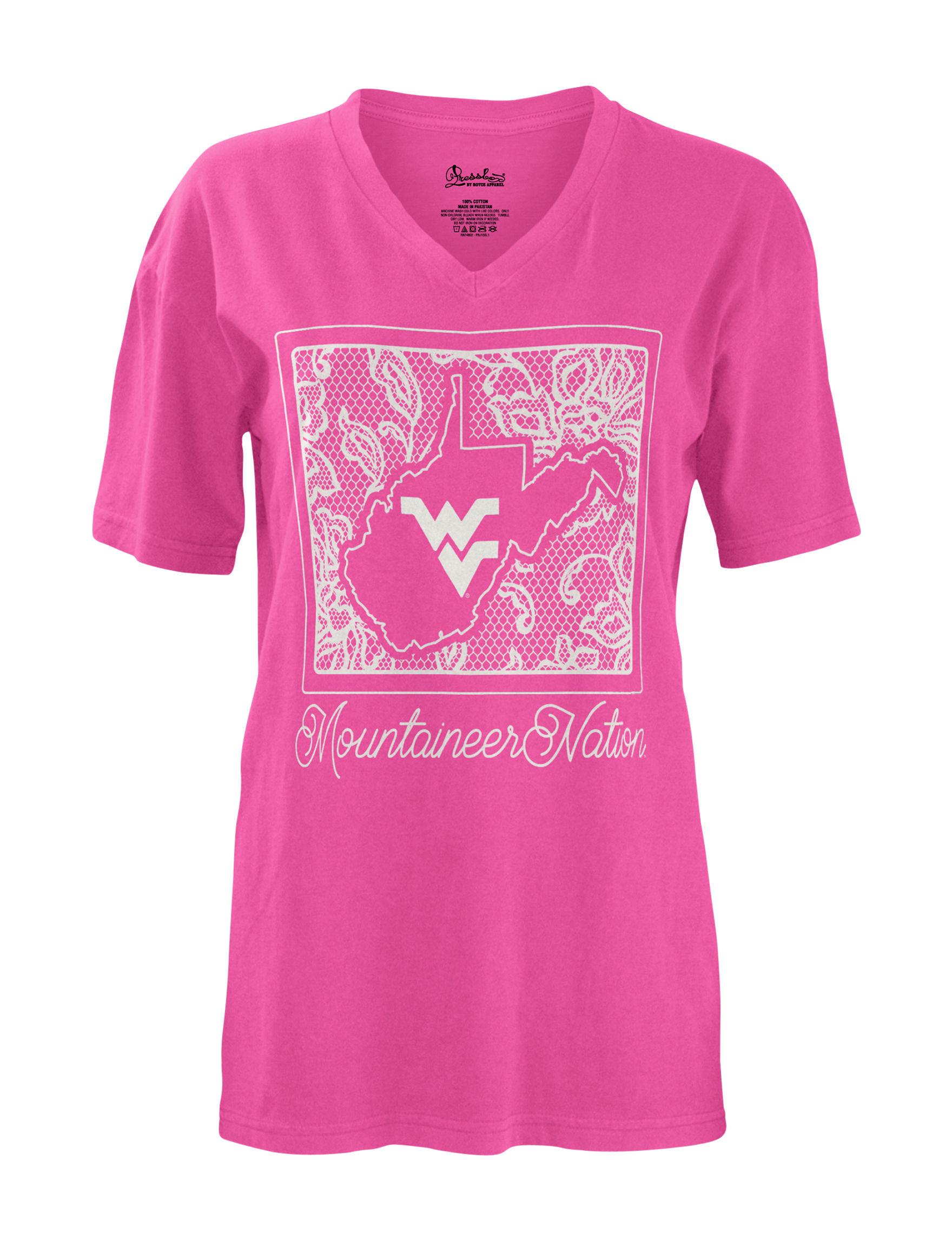 NCAA Pink Shirts & Blouses Tees & Tanks