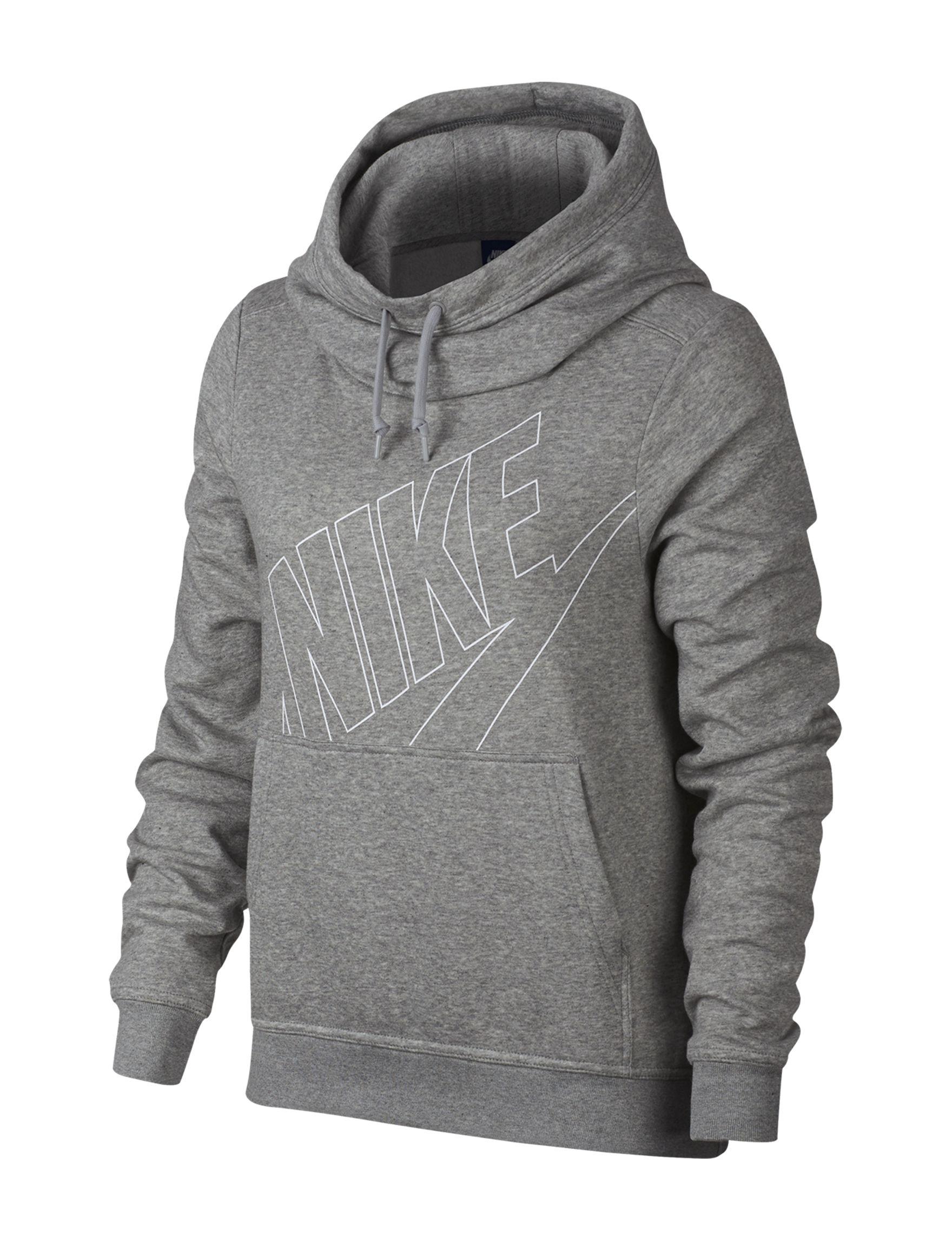 Nike Heather Grey Lightweight Jackets & Blazers