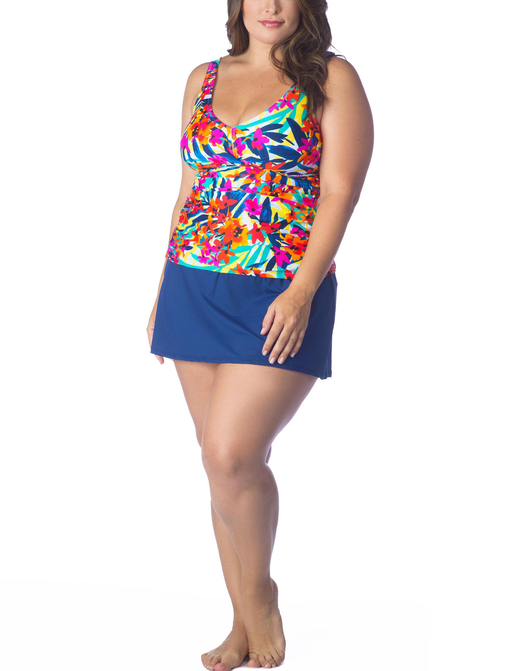 Chaps Pink Swimsuit Tops Tankini