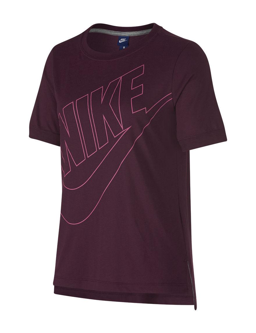 Nike Dark Red Tees & Tanks