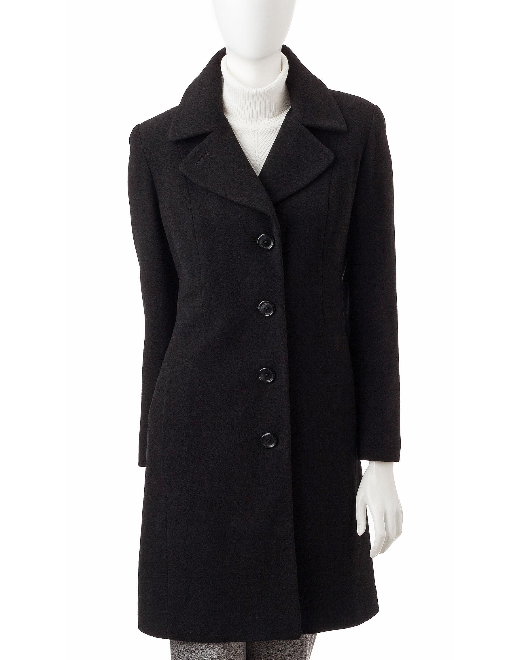 Anne Klein Black Peacoats & Overcoats