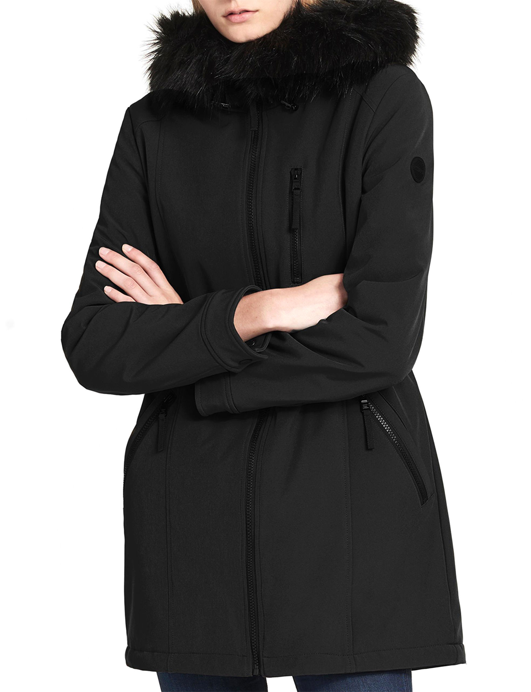 Calvin Klein Black Fleece & Soft Shell Jackets