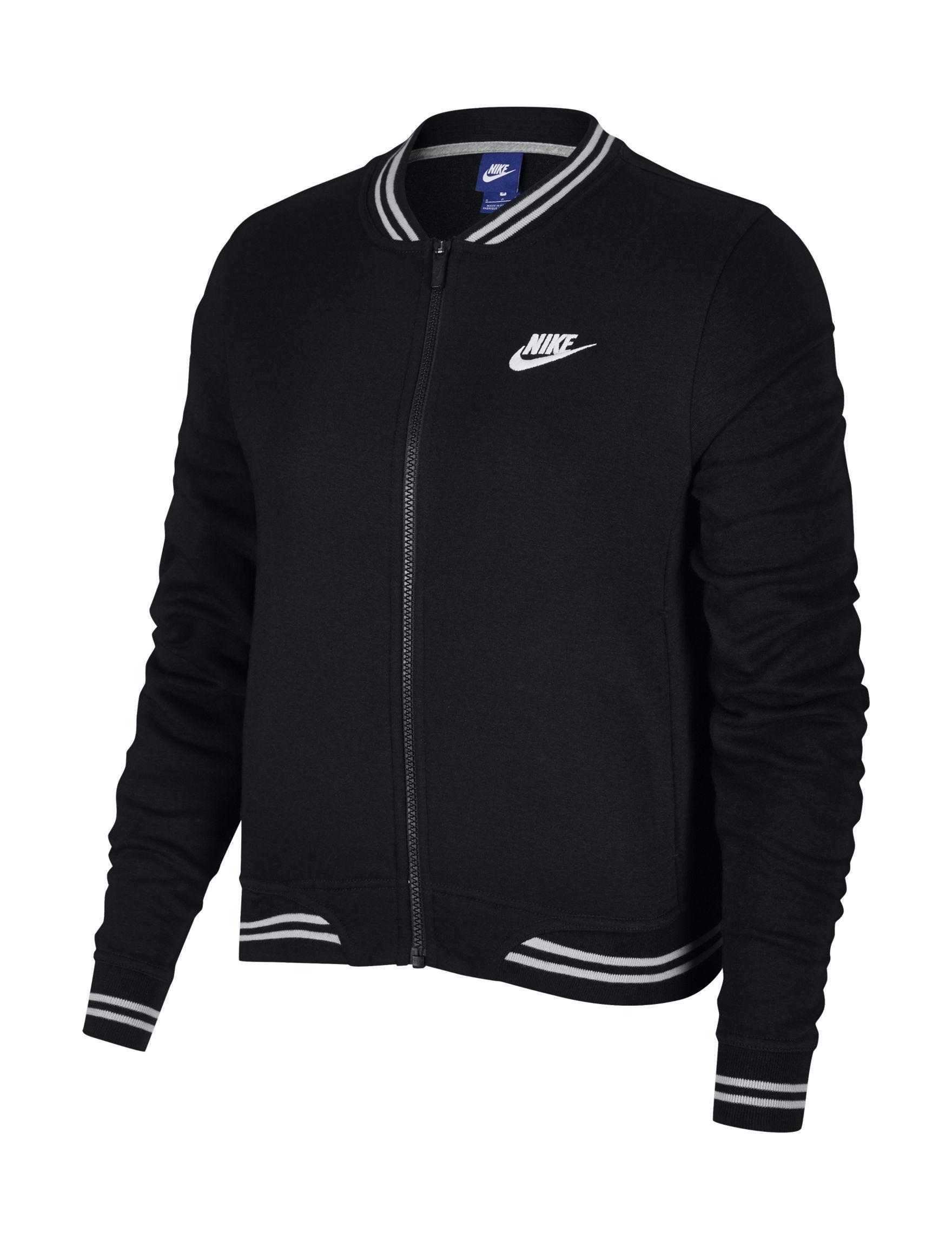 Nike Black /  White Lightweight Jackets & Blazers