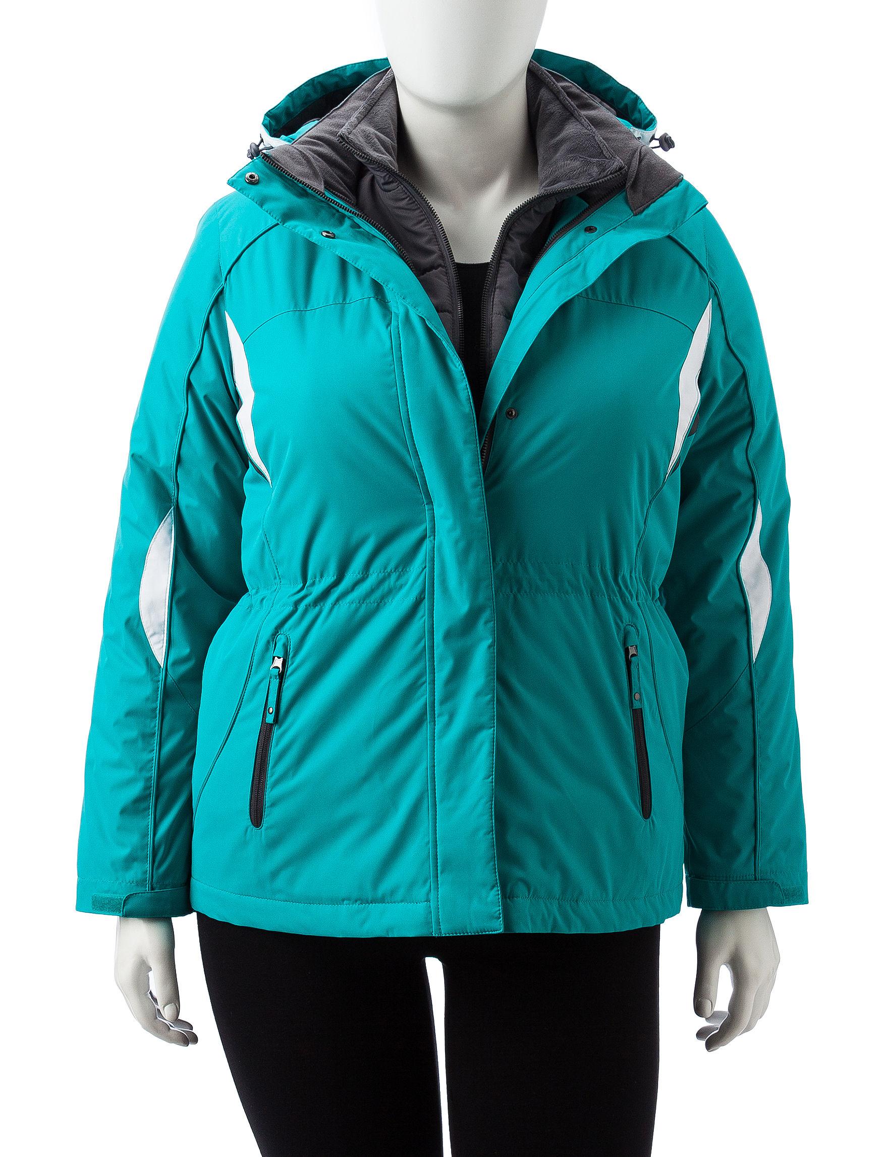 Below Zero Green Rain & Snow Jackets