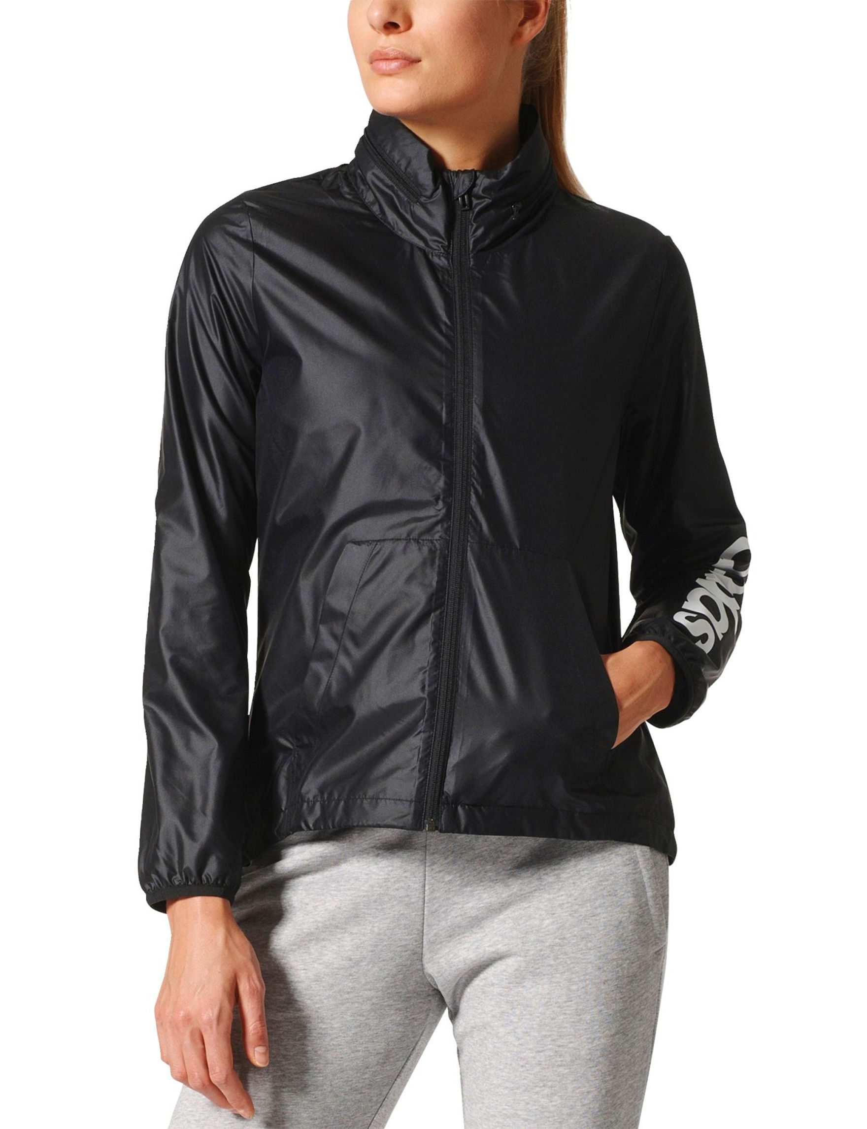 Adidas Black Lightweight Jackets & Blazers