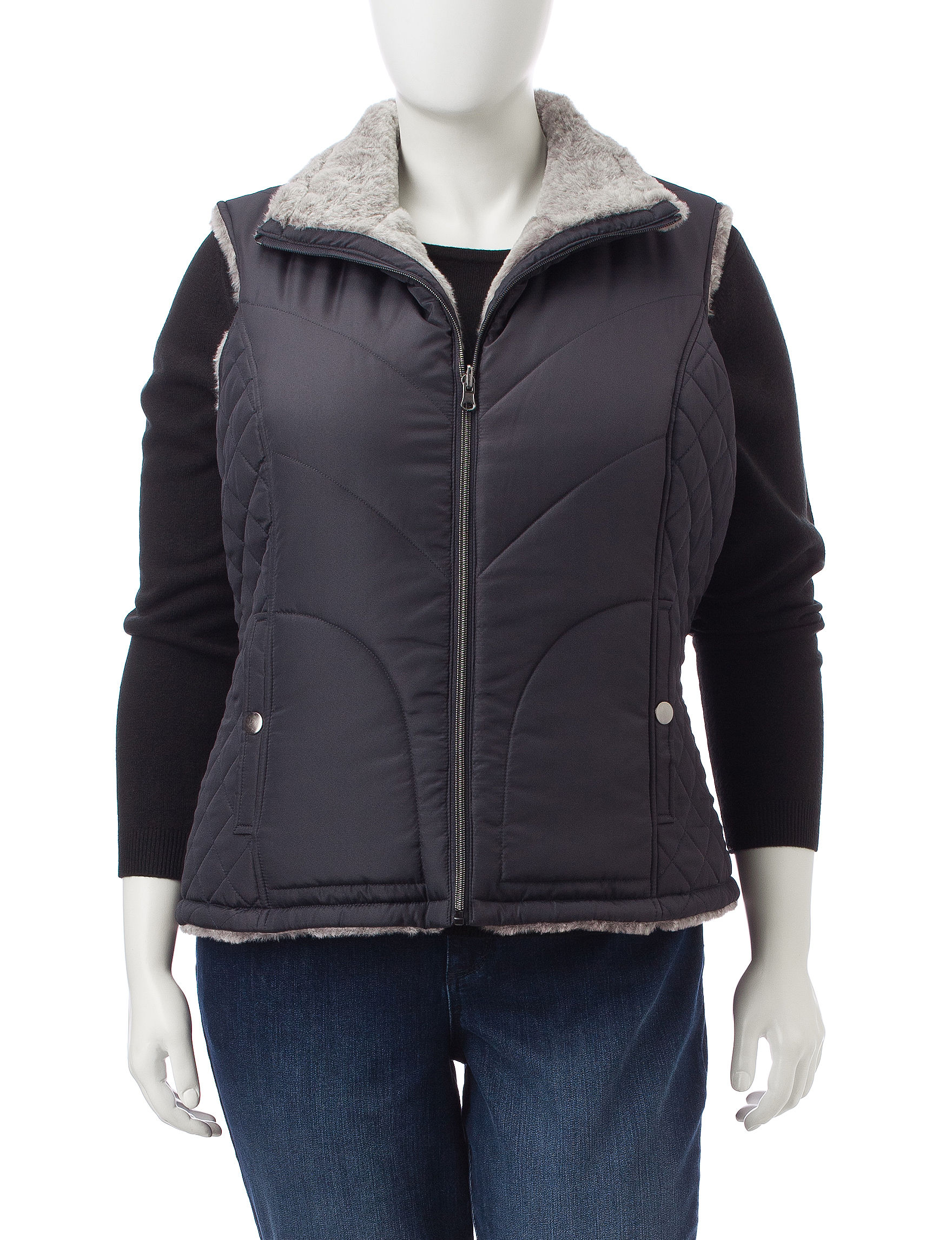 Valerie Stevens Steel Puffer & Quilted Jackets