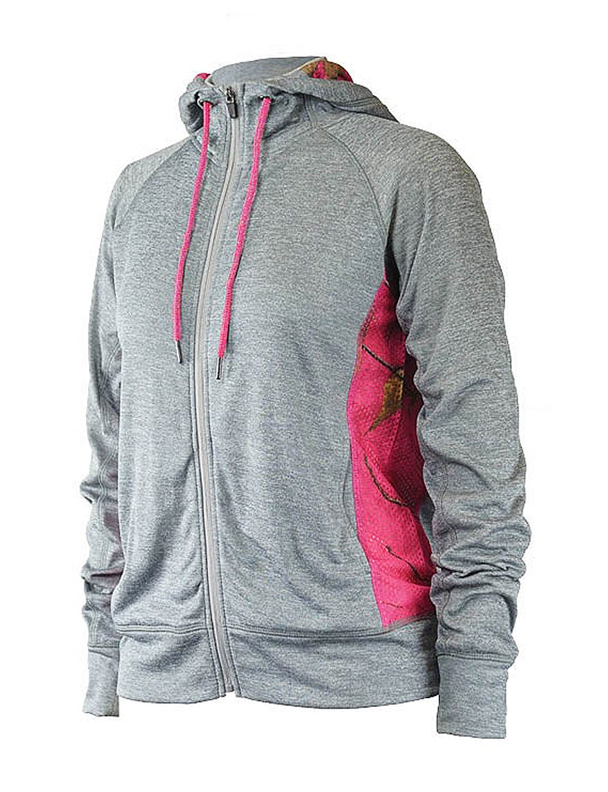 Realtree Heather Grey Lightweight Jackets & Blazers