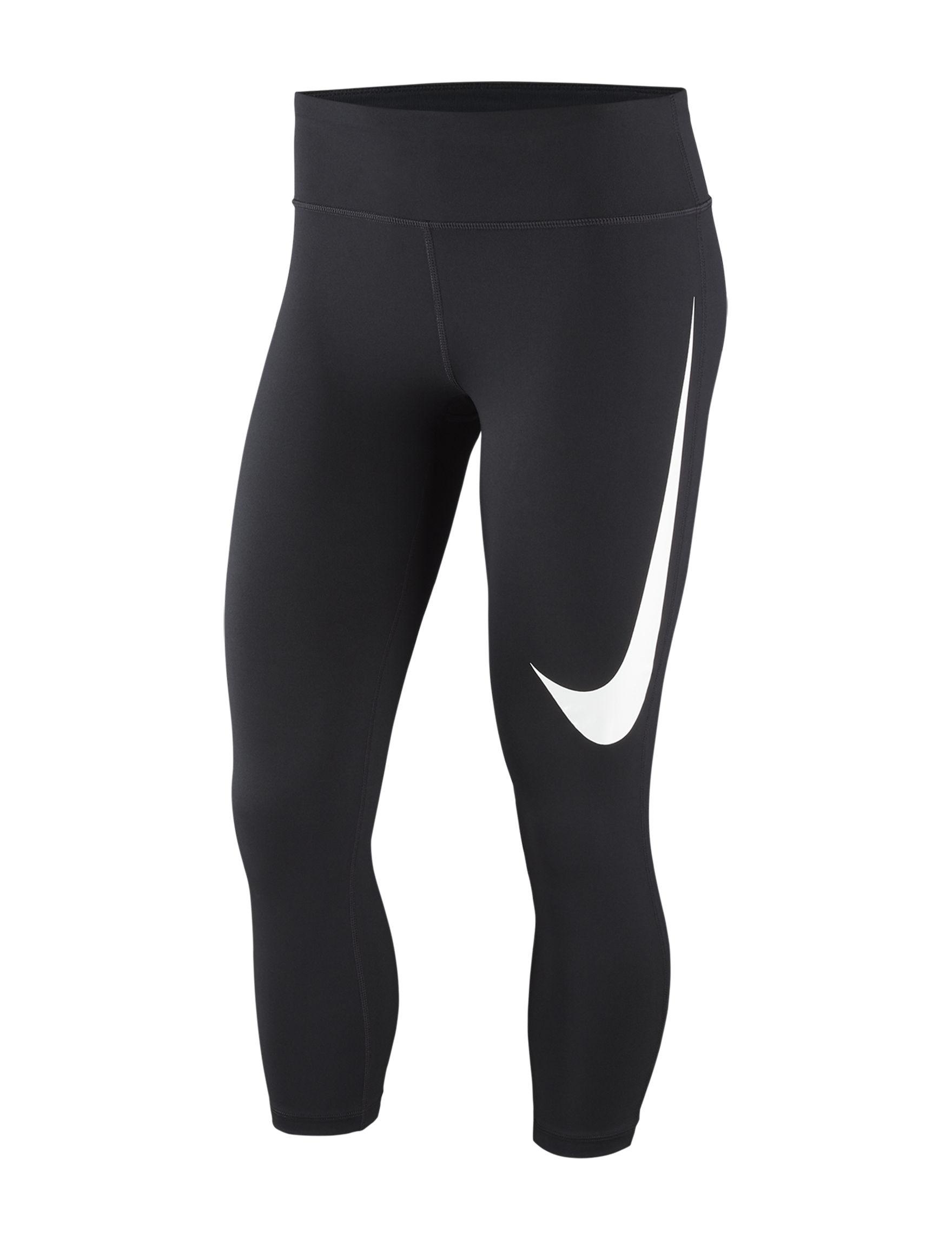 Nike Black /  White Capris & Crops Leggings