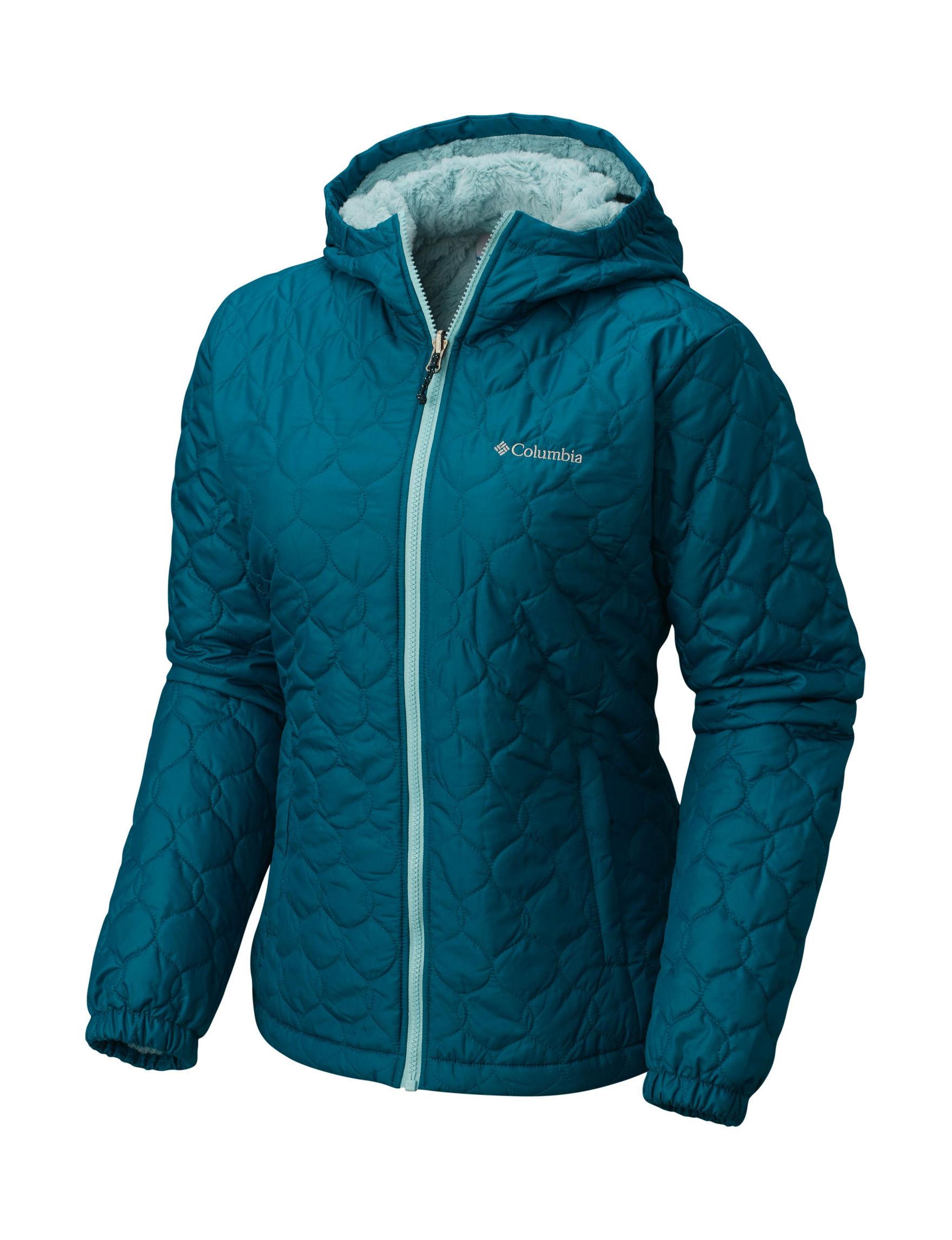 Columbia Deep Teal Rain & Snow Jackets
