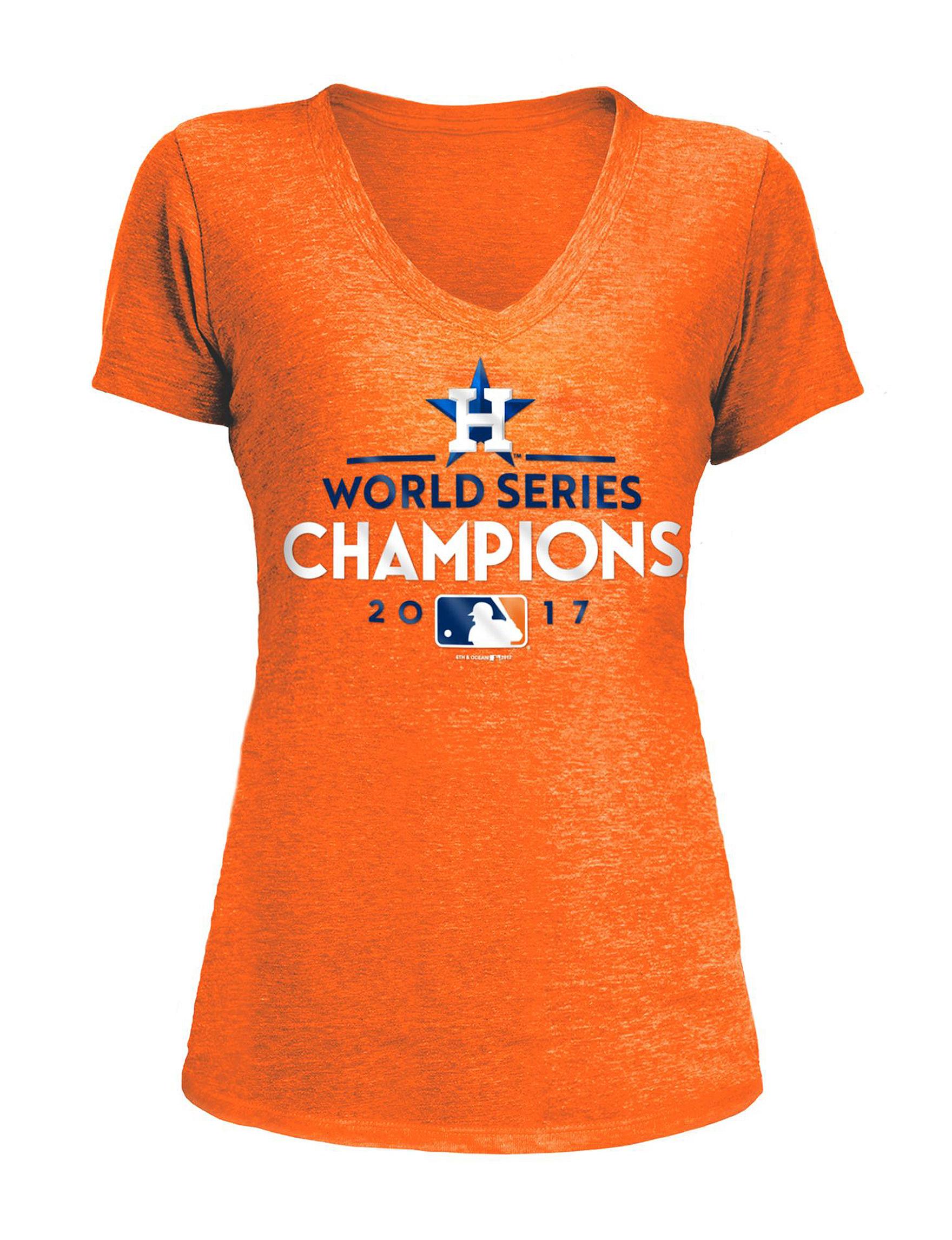 MLB Orange Tees & Tanks