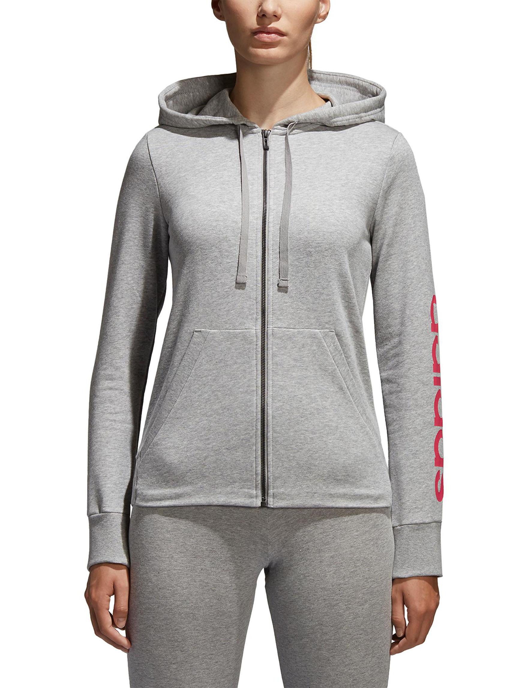 Adidas Grey Lightweight Jackets & Blazers