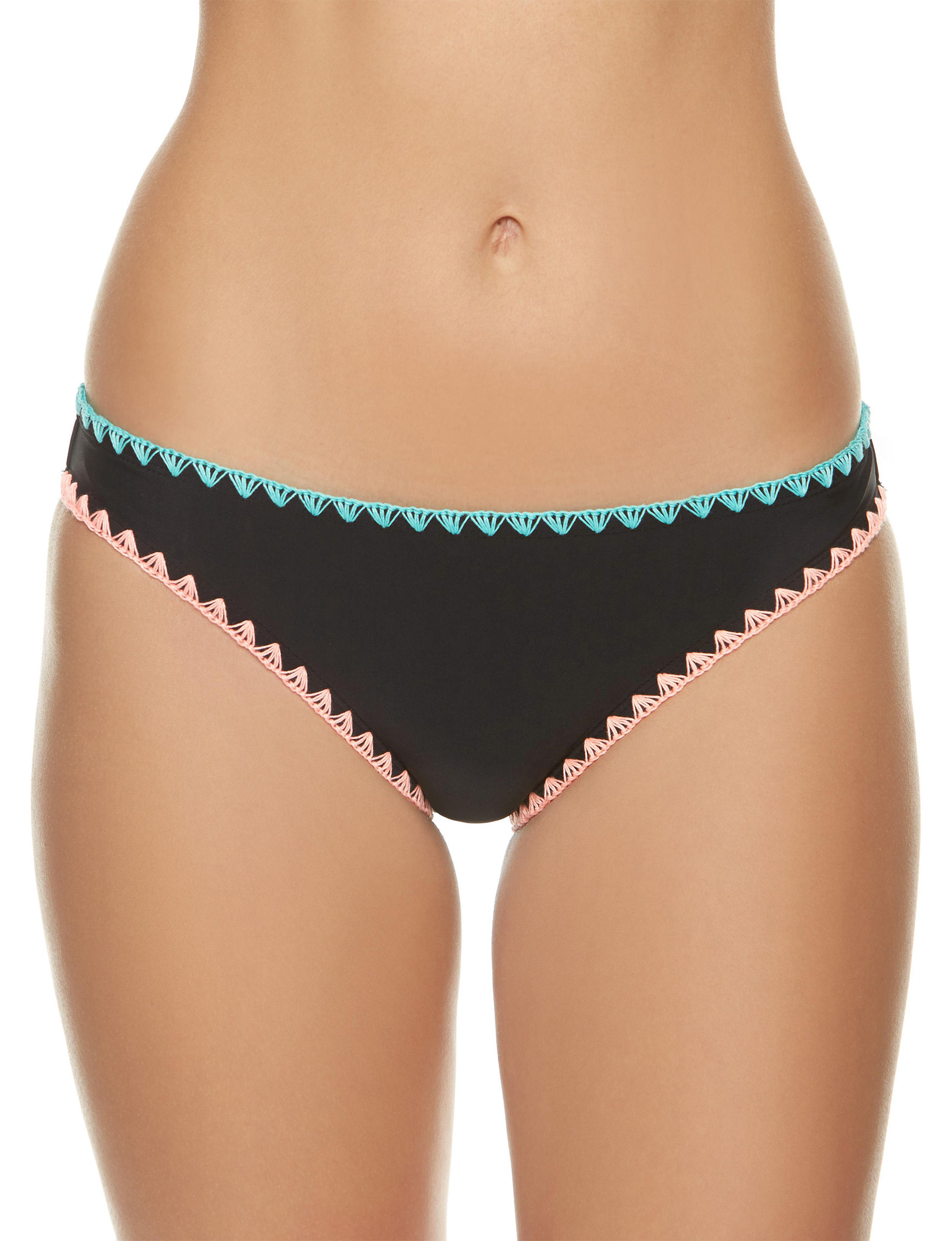 Polka Dot Black Swimsuit Bottoms Hipster