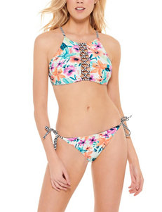 Hot Water White/Multi Swimsuit Bottoms Hipster
