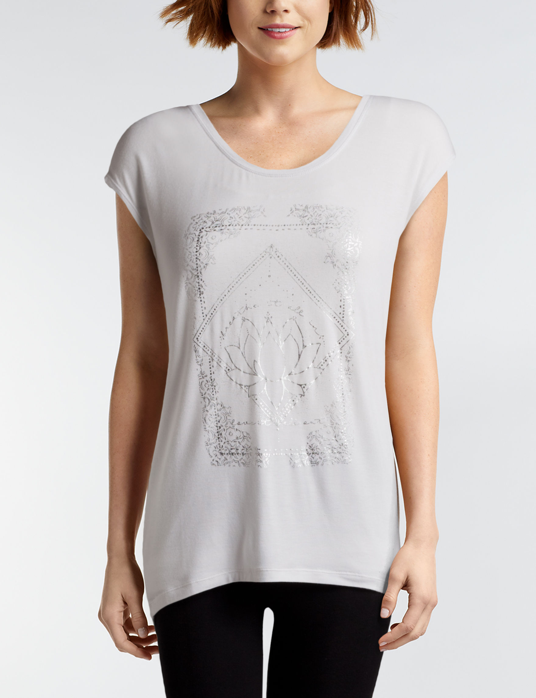 Gaiam White Tees & Tanks