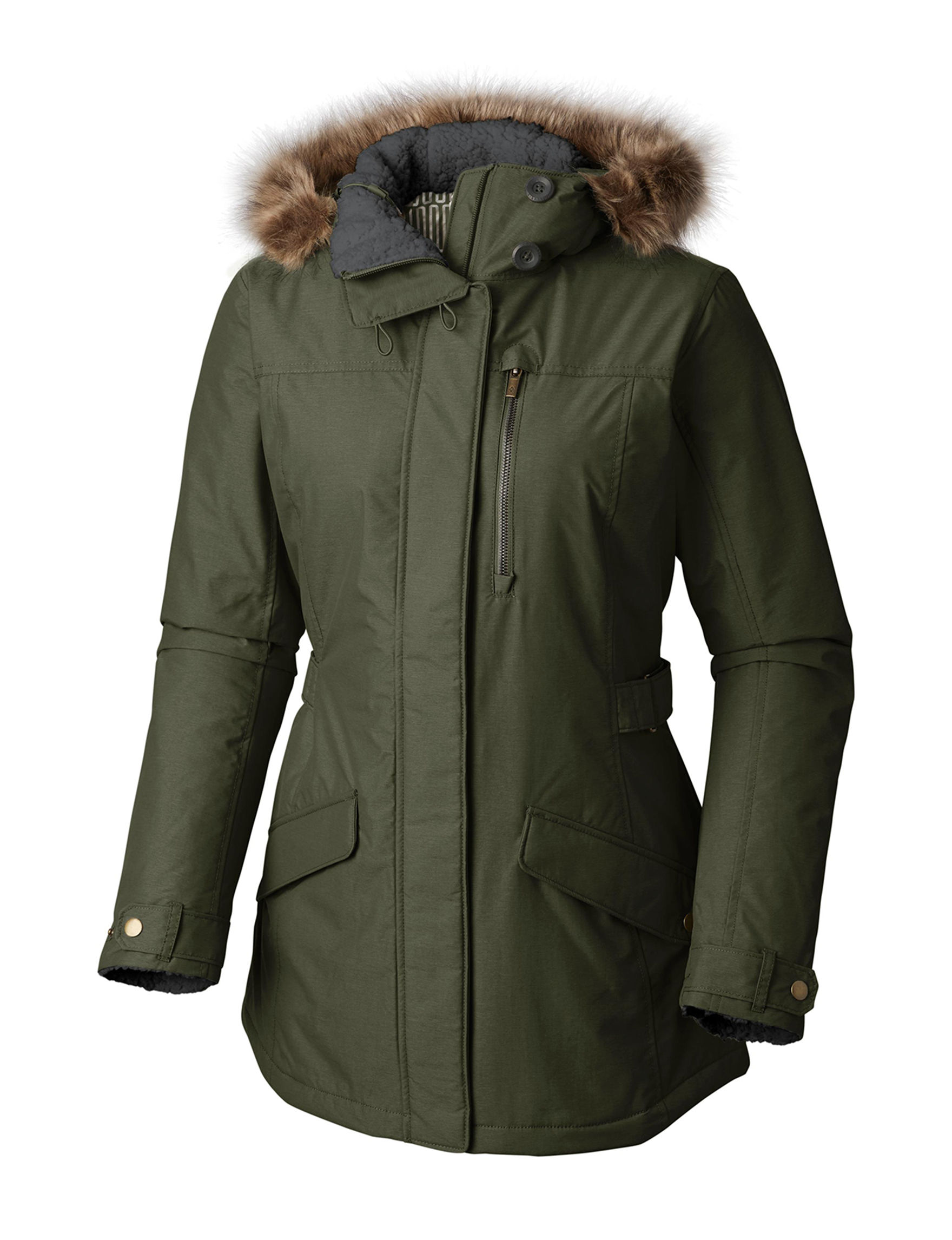 Columbia Olive Puffer & Quilted Jackets