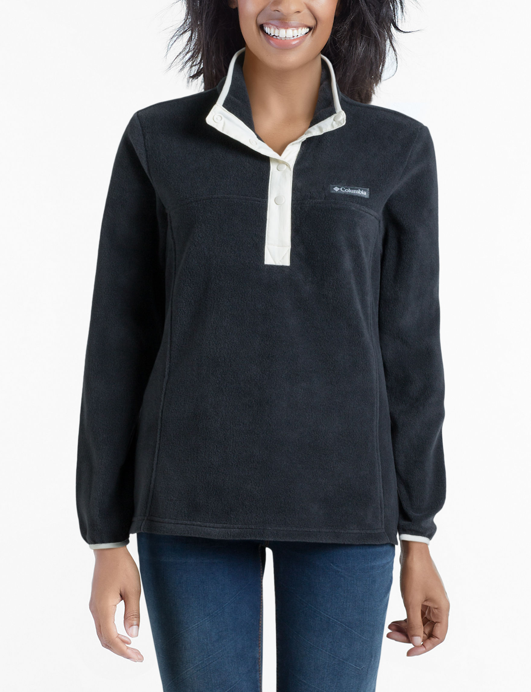 Columbia Black Fleece & Soft Shell Jackets Lightweight Jackets & Blazers