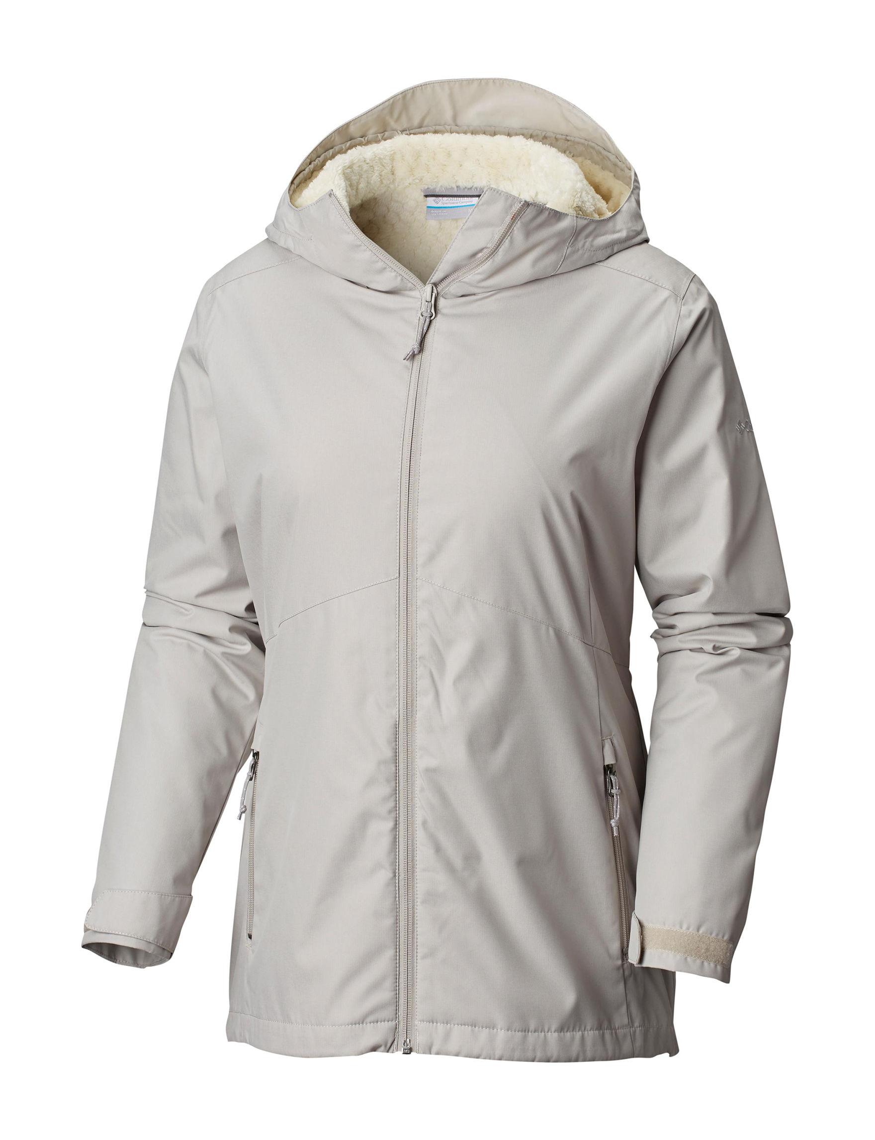 Columbia Grey Lightweight Jackets & Blazers Rain & Snow Jackets