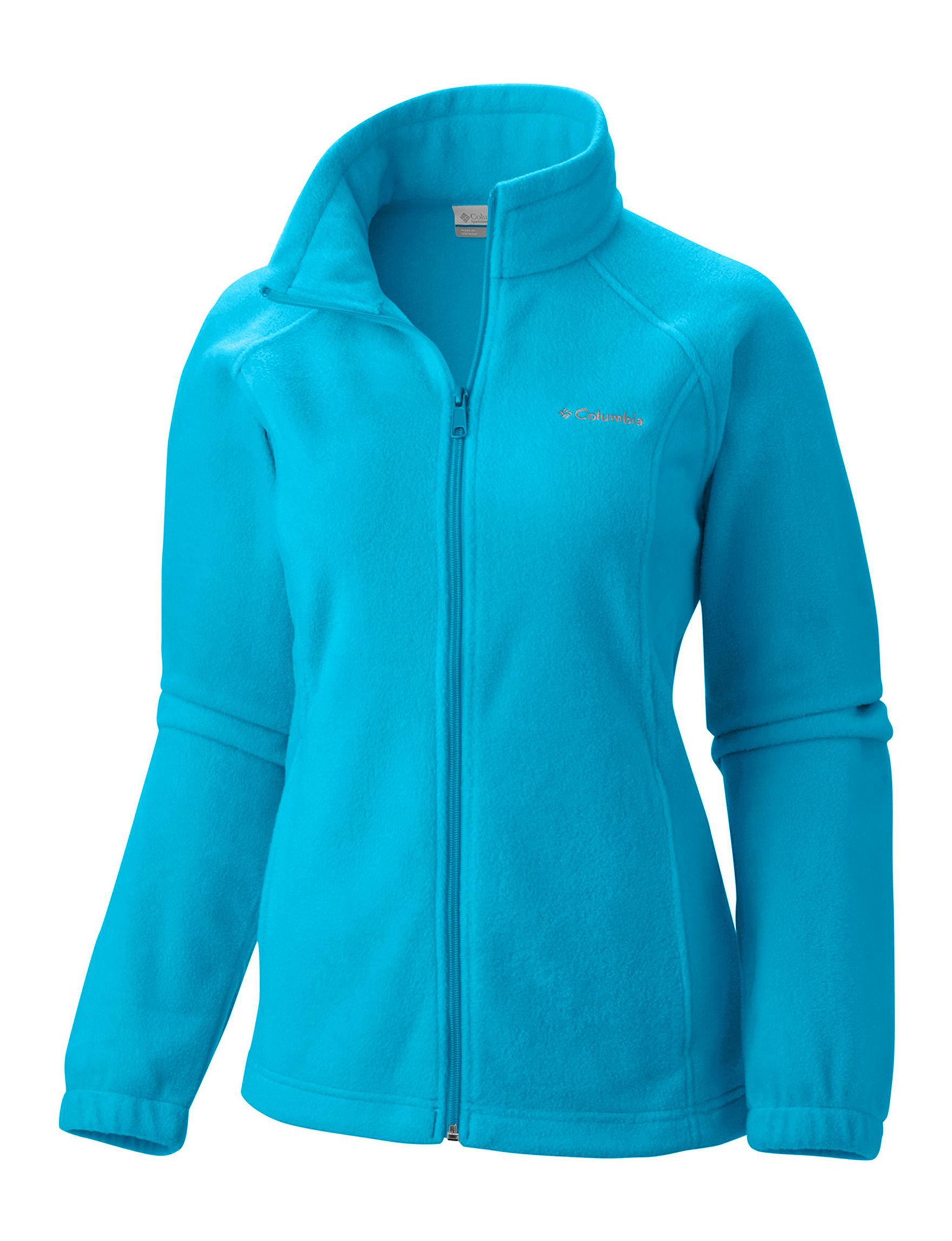 Columbia Turquoise Fleece & Soft Shell Jackets Lightweight Jackets & Blazers