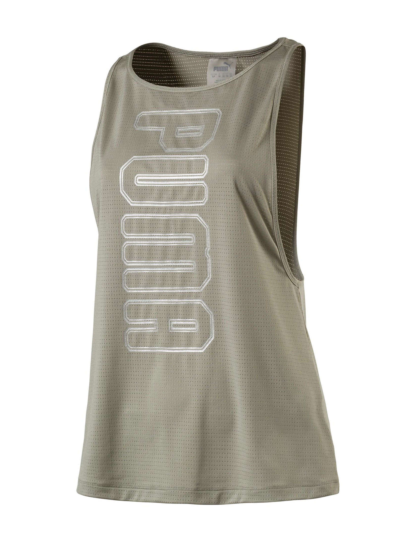 Puma Olive Leggings Tees & Tanks