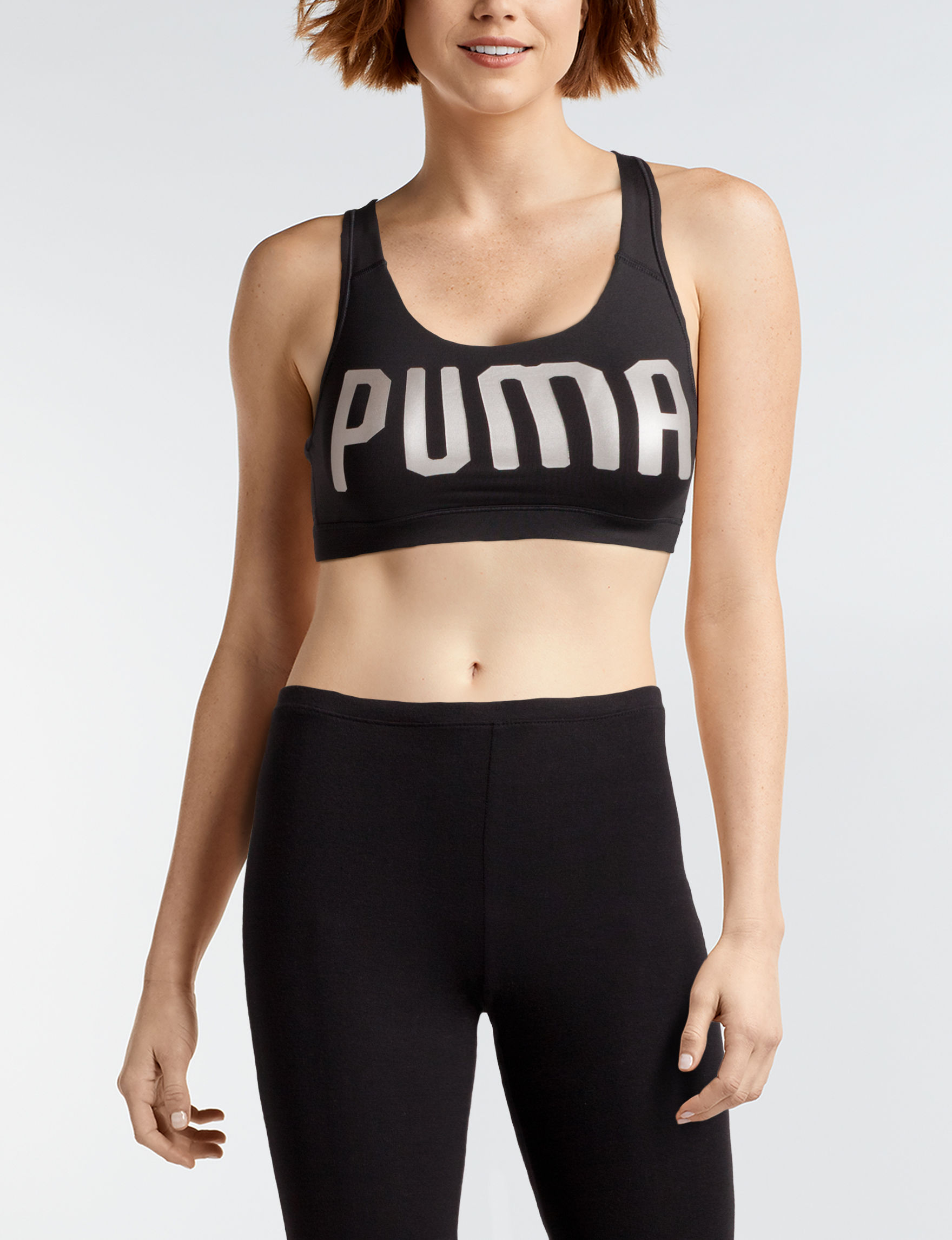 Puma Black Bras Sports Bra