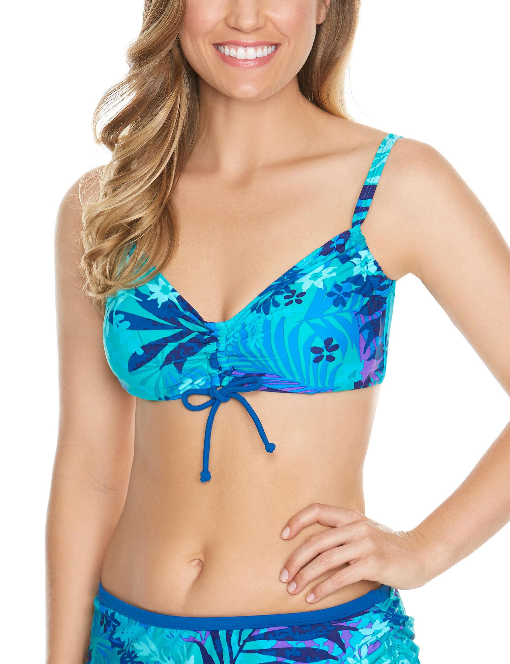 Beach Diva Turquoise Swimsuit Tops