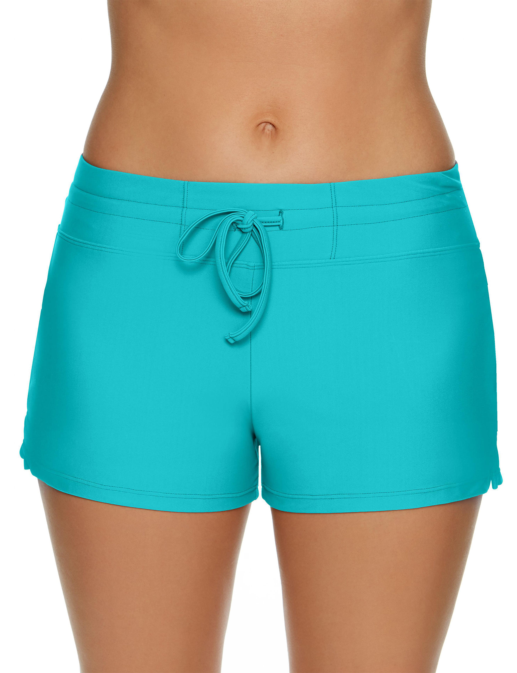 Splashletics Teal Blue Swimsuit Bottoms Boyshort