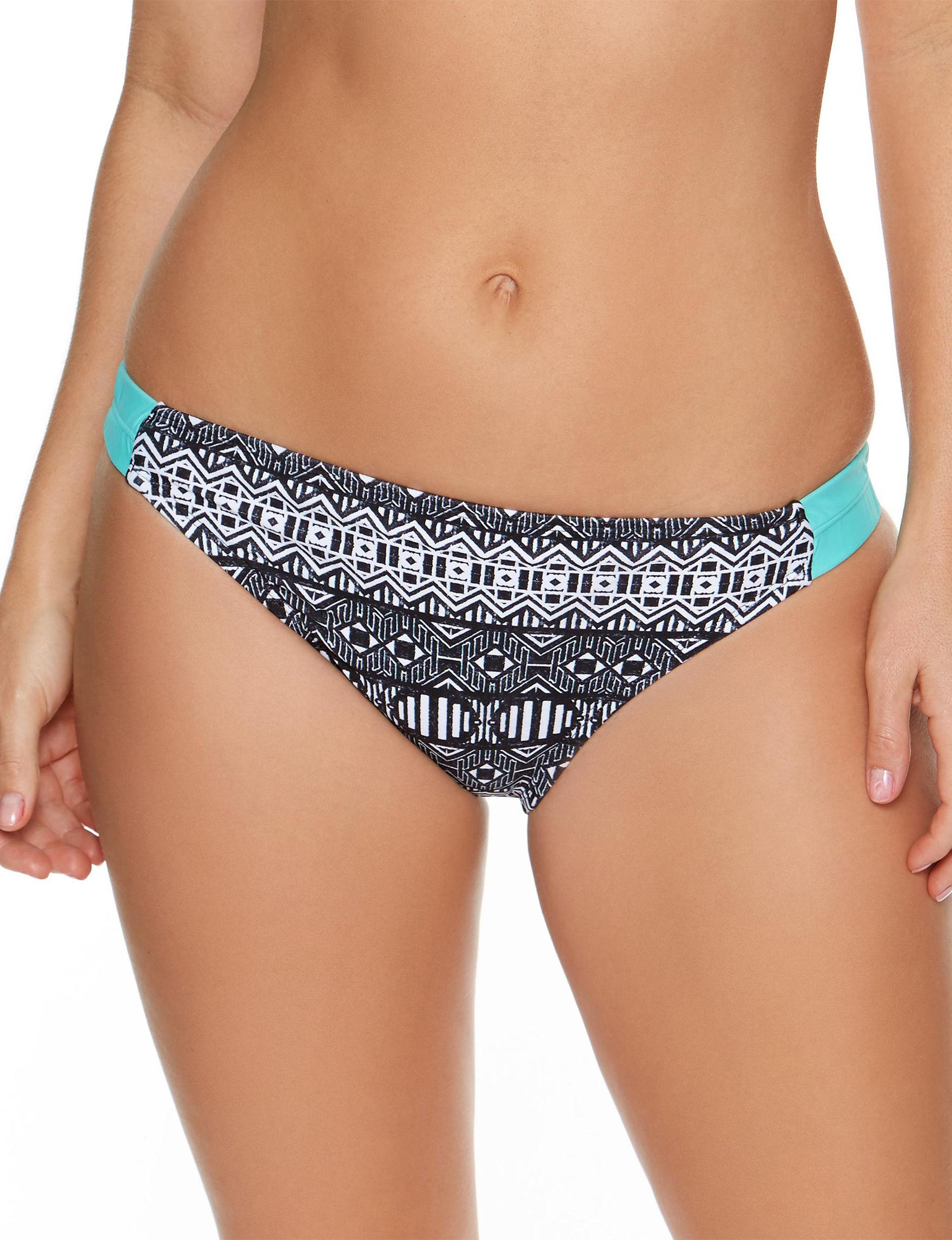 Splashletics Black / White Swimsuit Bottoms Hipster