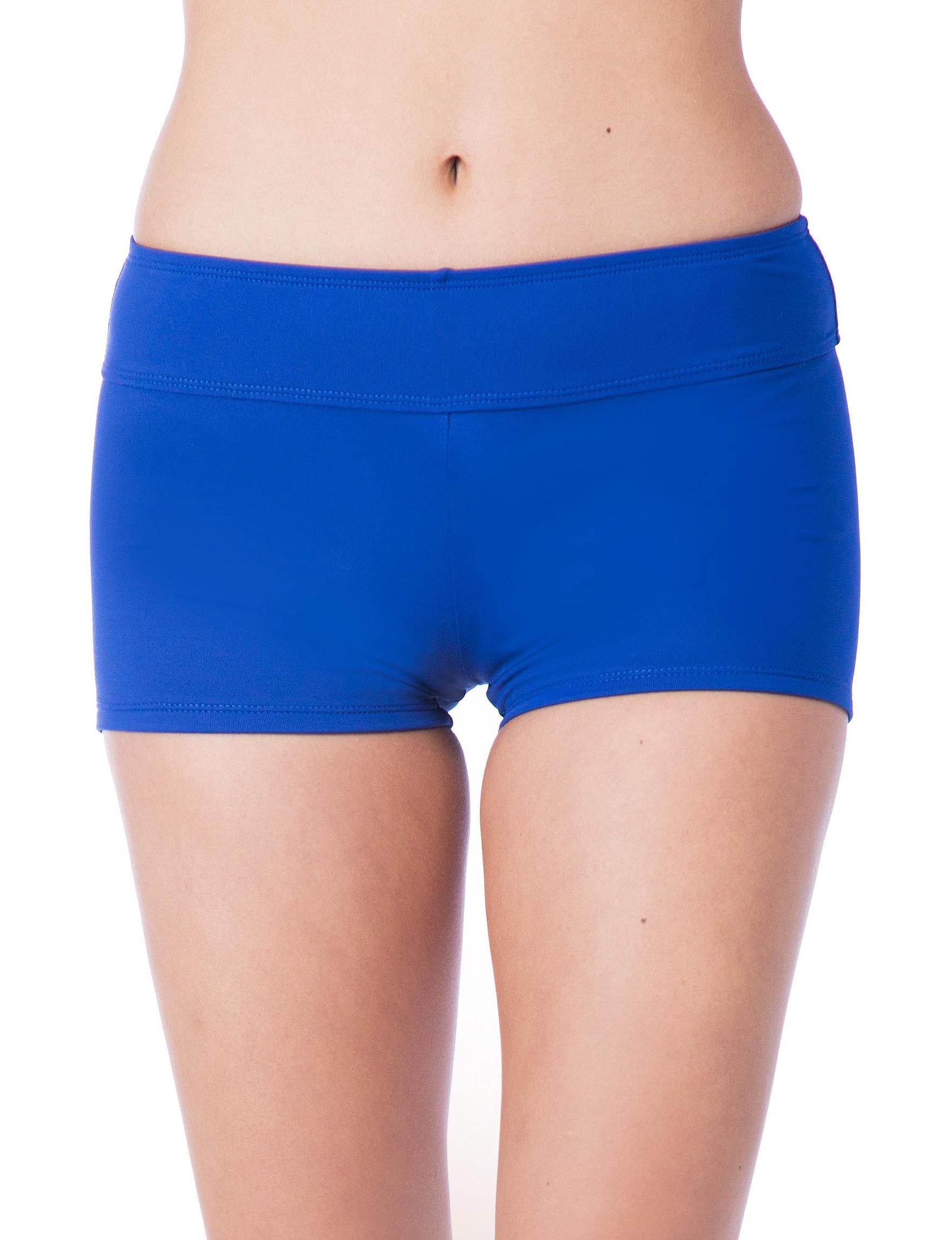 Chaps Royal Blue Swimsuit Bottoms Boyshort