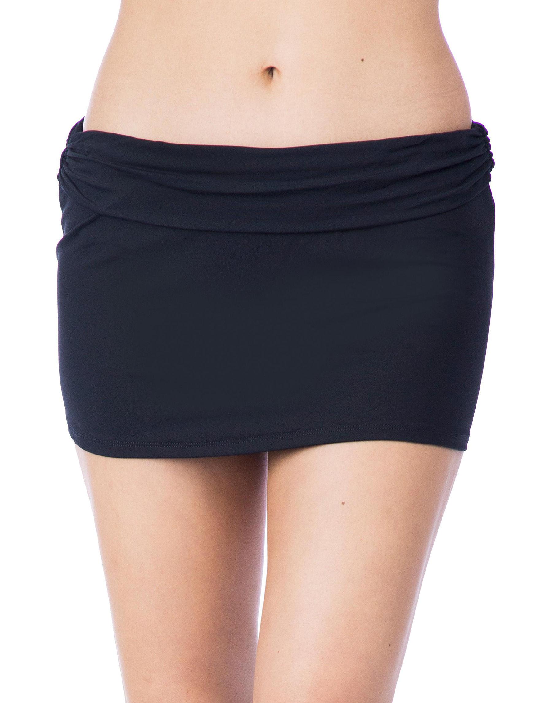 Chaps Black Swimsuit Bottoms Skirtini