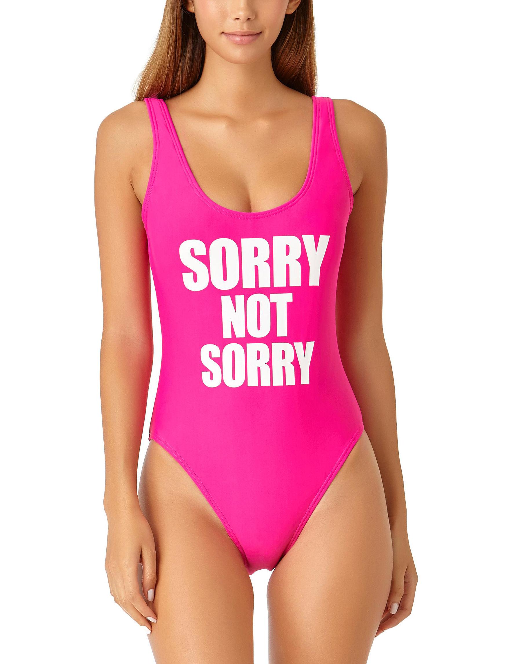 California Sunshine Pink One-piece Swimsuits