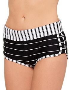 Hot Water Black / White Swimsuit Bottoms Boyshort