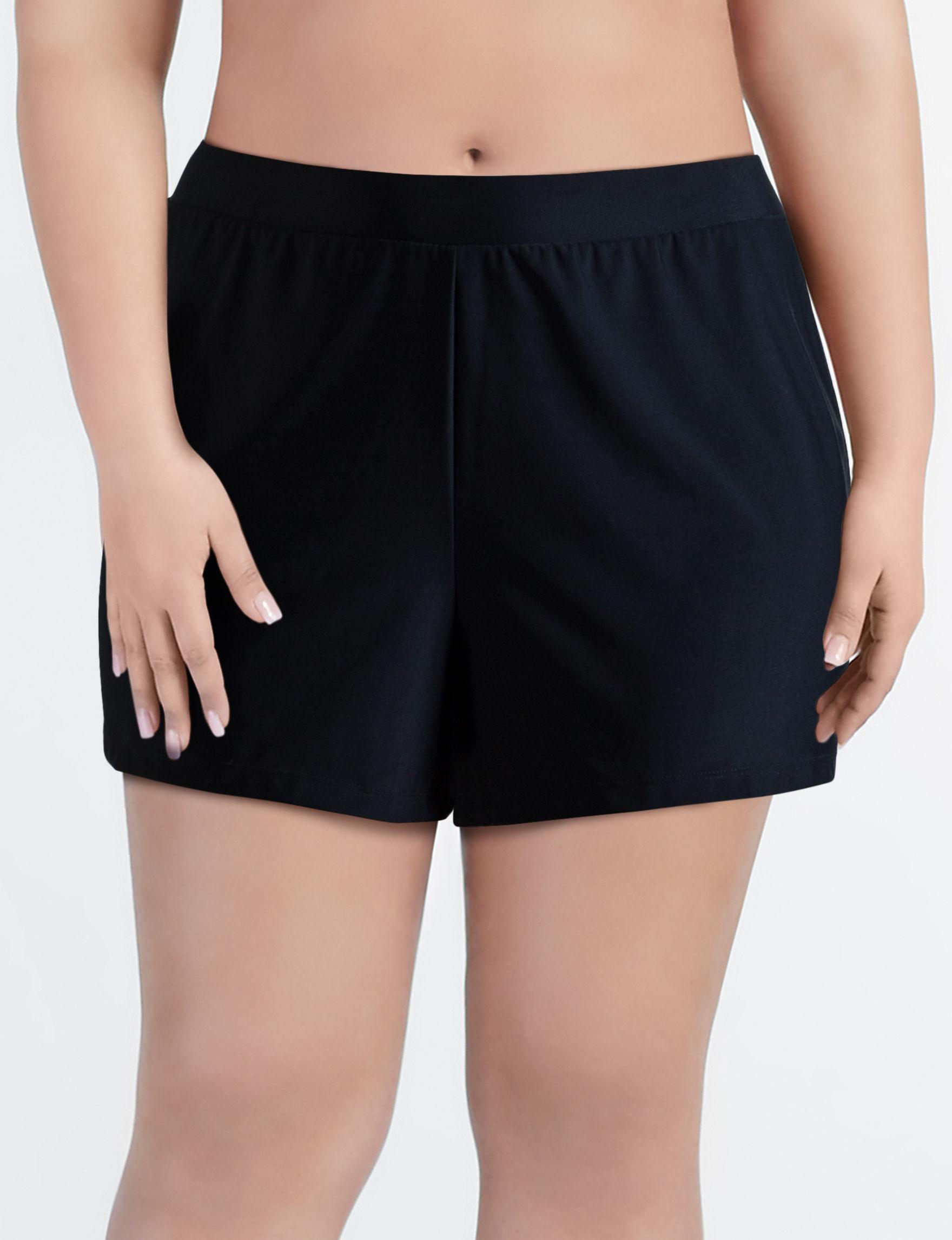 Beach Diva Black Swimsuit Bottoms Boyshort