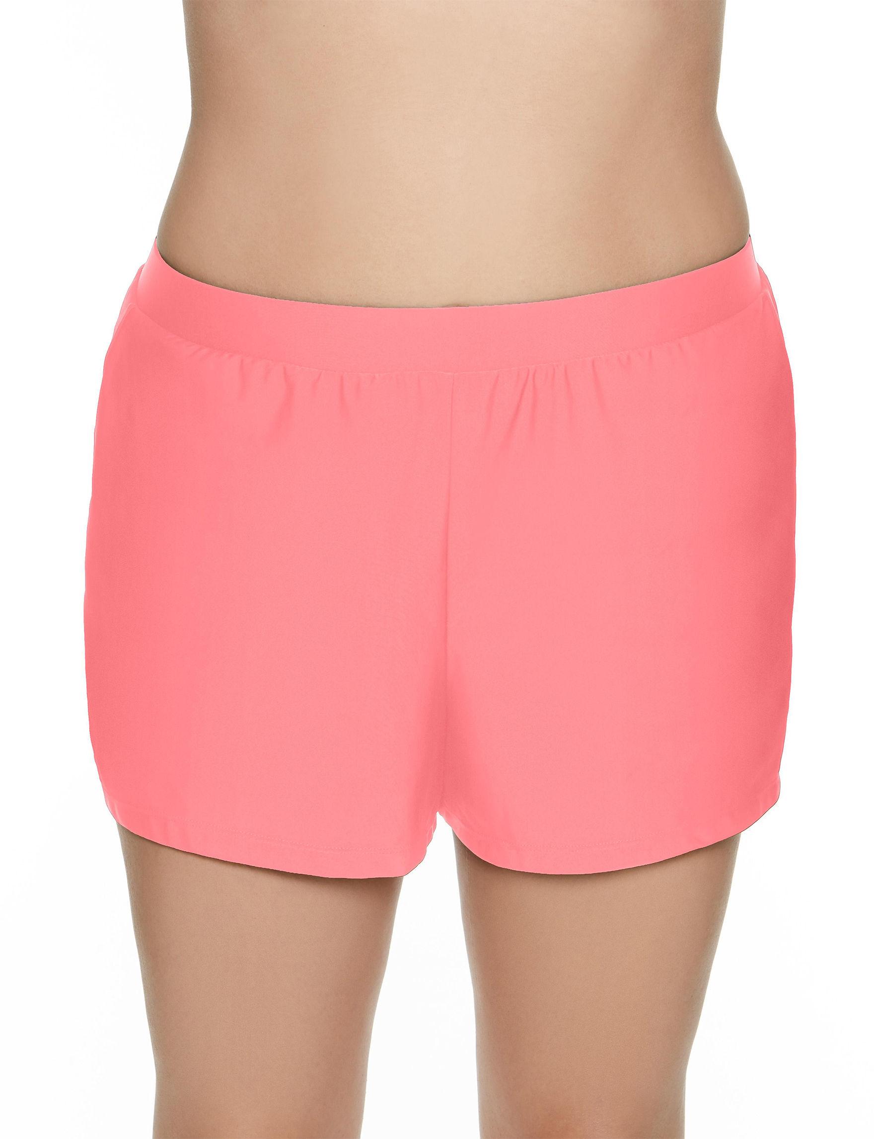 Beach Diva Coral Swimsuit Bottoms Boyshort