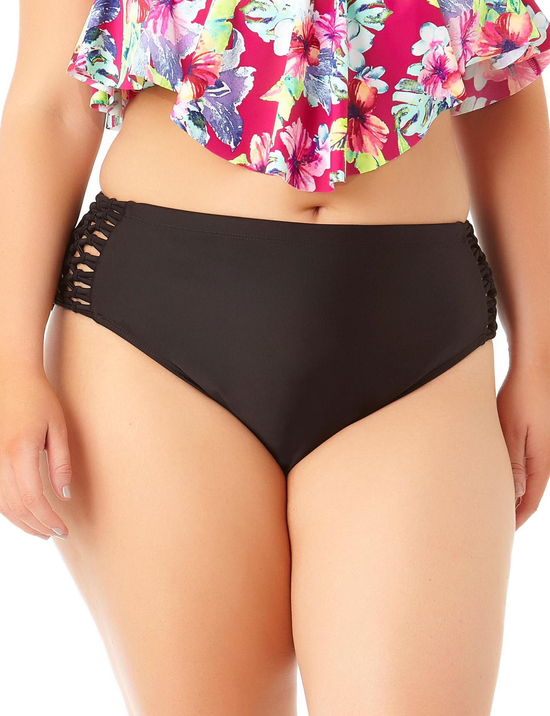 Allure Black Swimsuit Bottoms