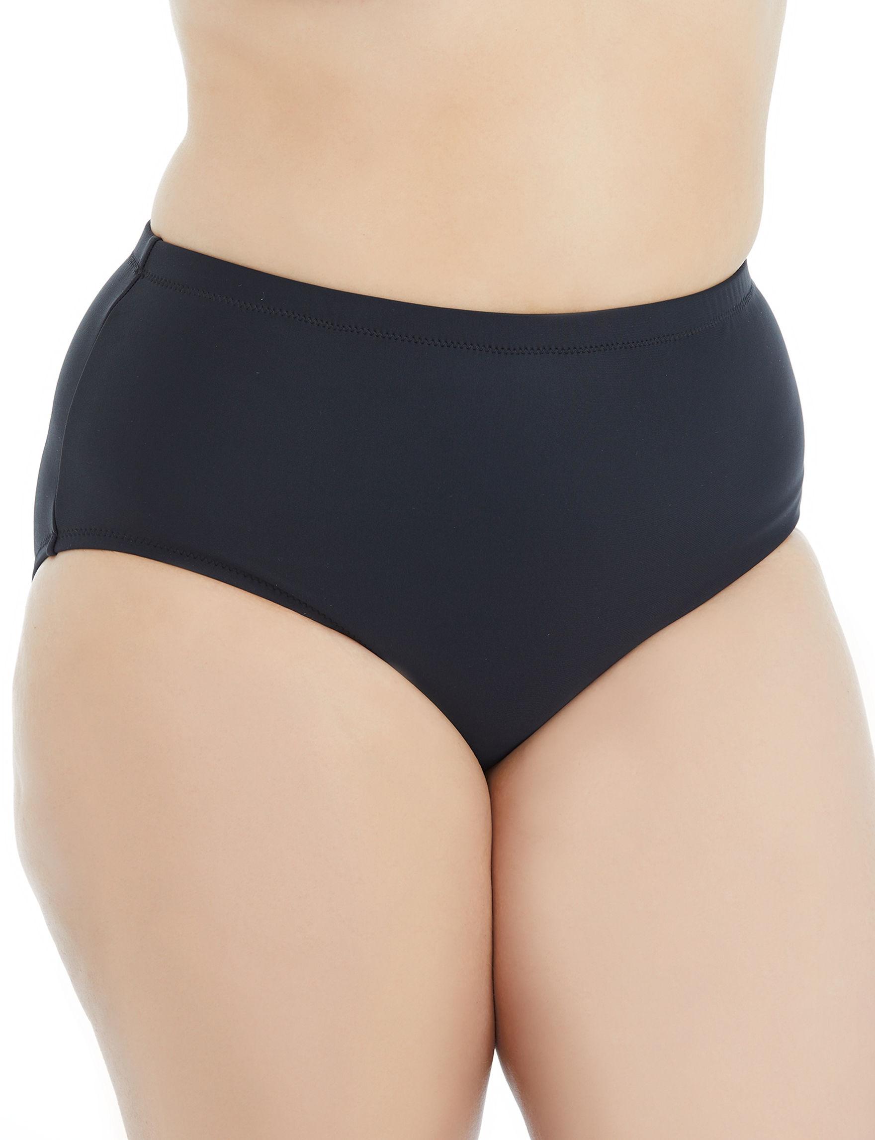 Raisins Curve Black Swimsuit Bottoms High Waist