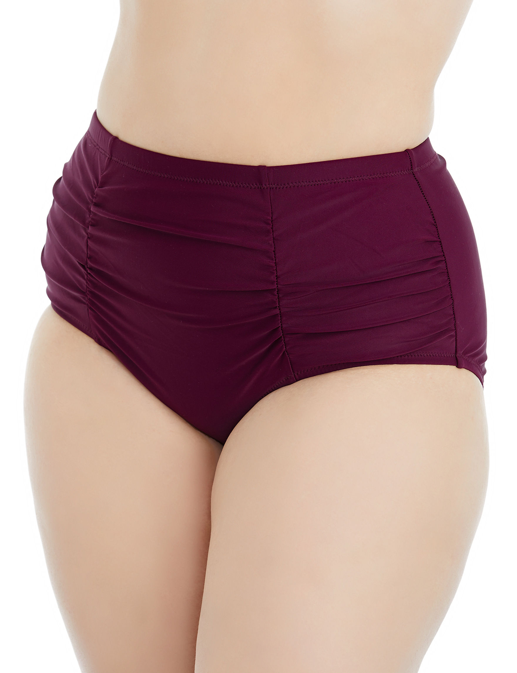 Raisins Curve Maroon Swimsuit Bottoms High Waist