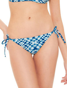 Hot Water Blue Swimsuit Bottoms Hipster