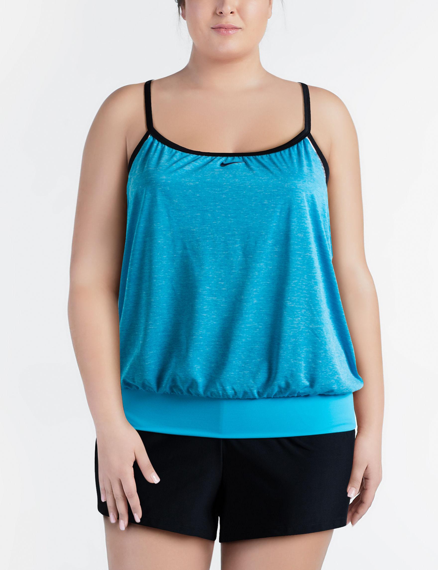 Nike Blue Swimsuit Tops Tankini