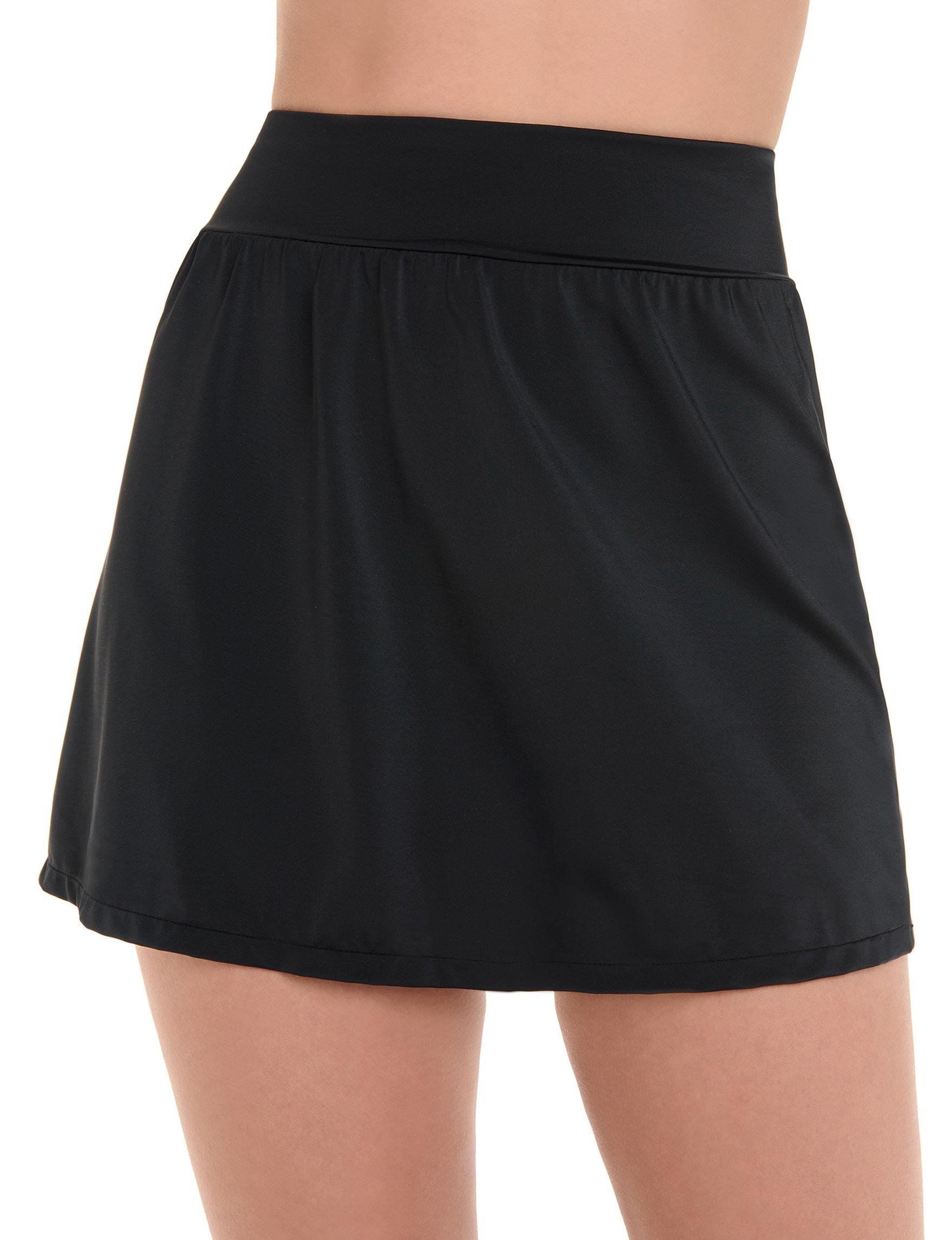 Trimshaper Black Swimsuit Bottoms Skirtini