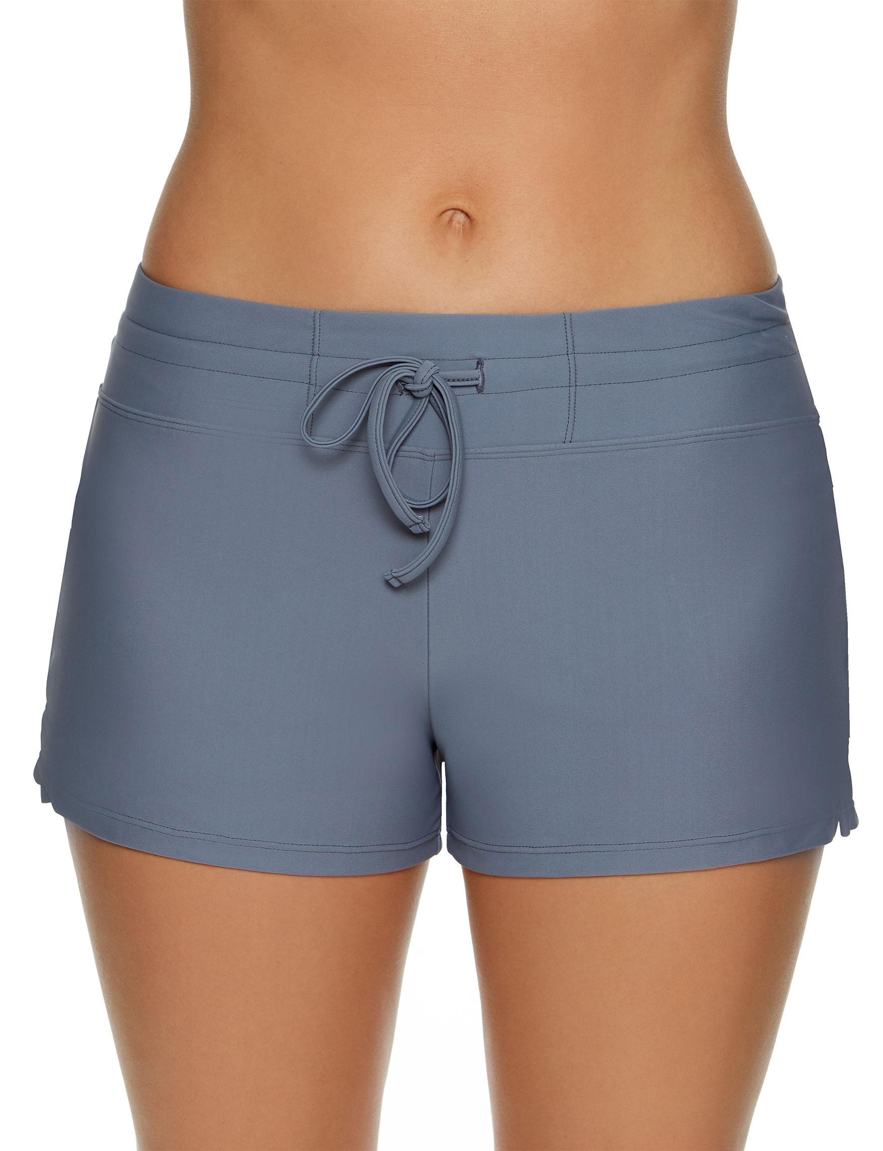 Splashletics Grey Swimsuit Bottoms Boyshort
