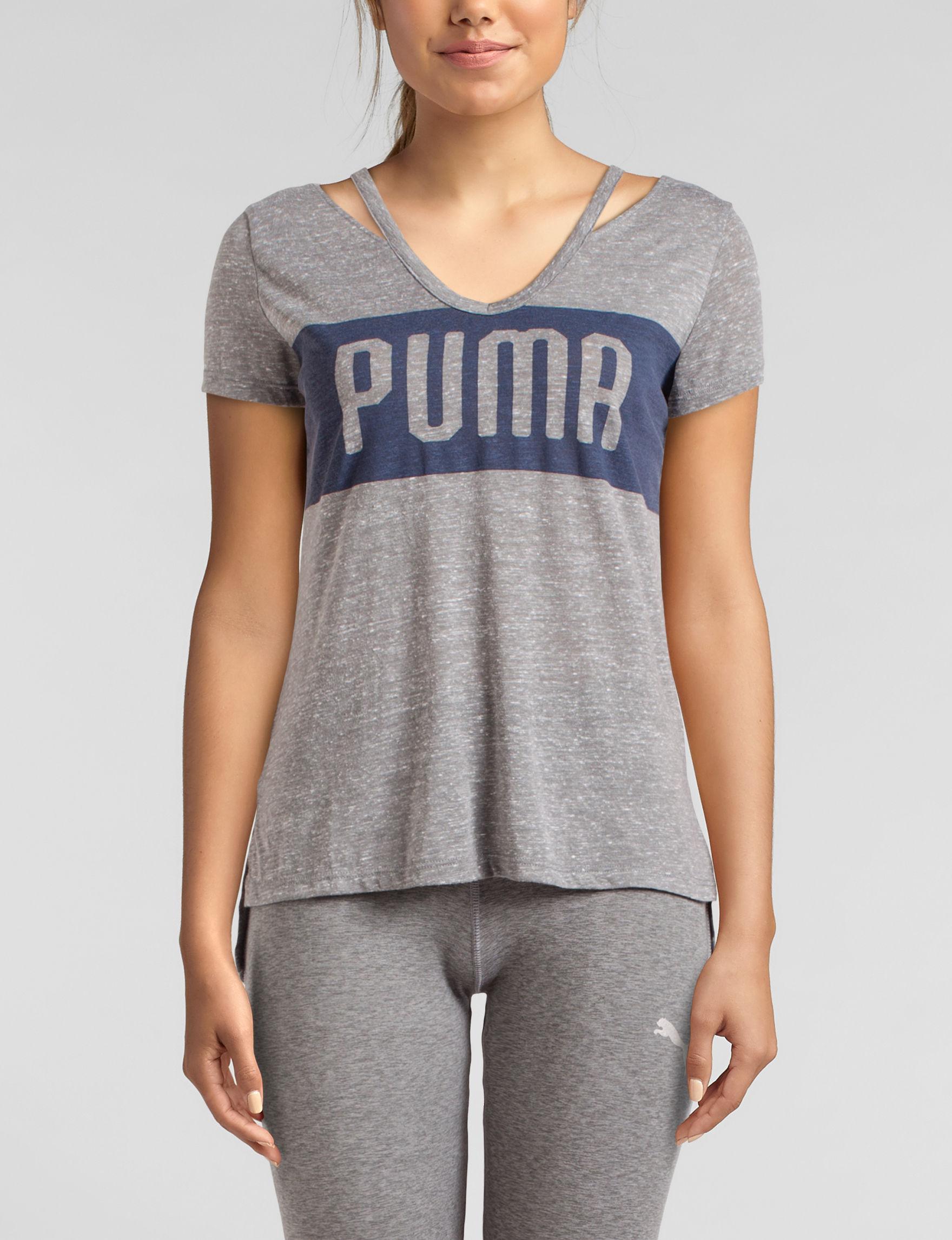 Puma Grey Tees & Tanks