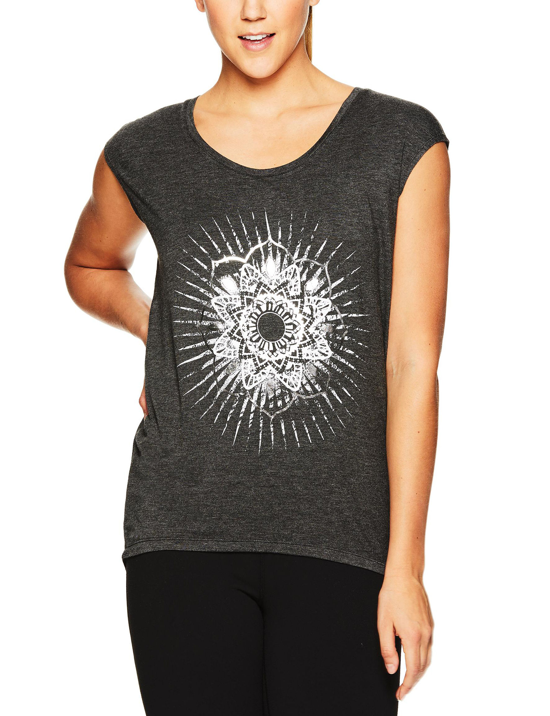 Gaiam Grey Tees & Tanks